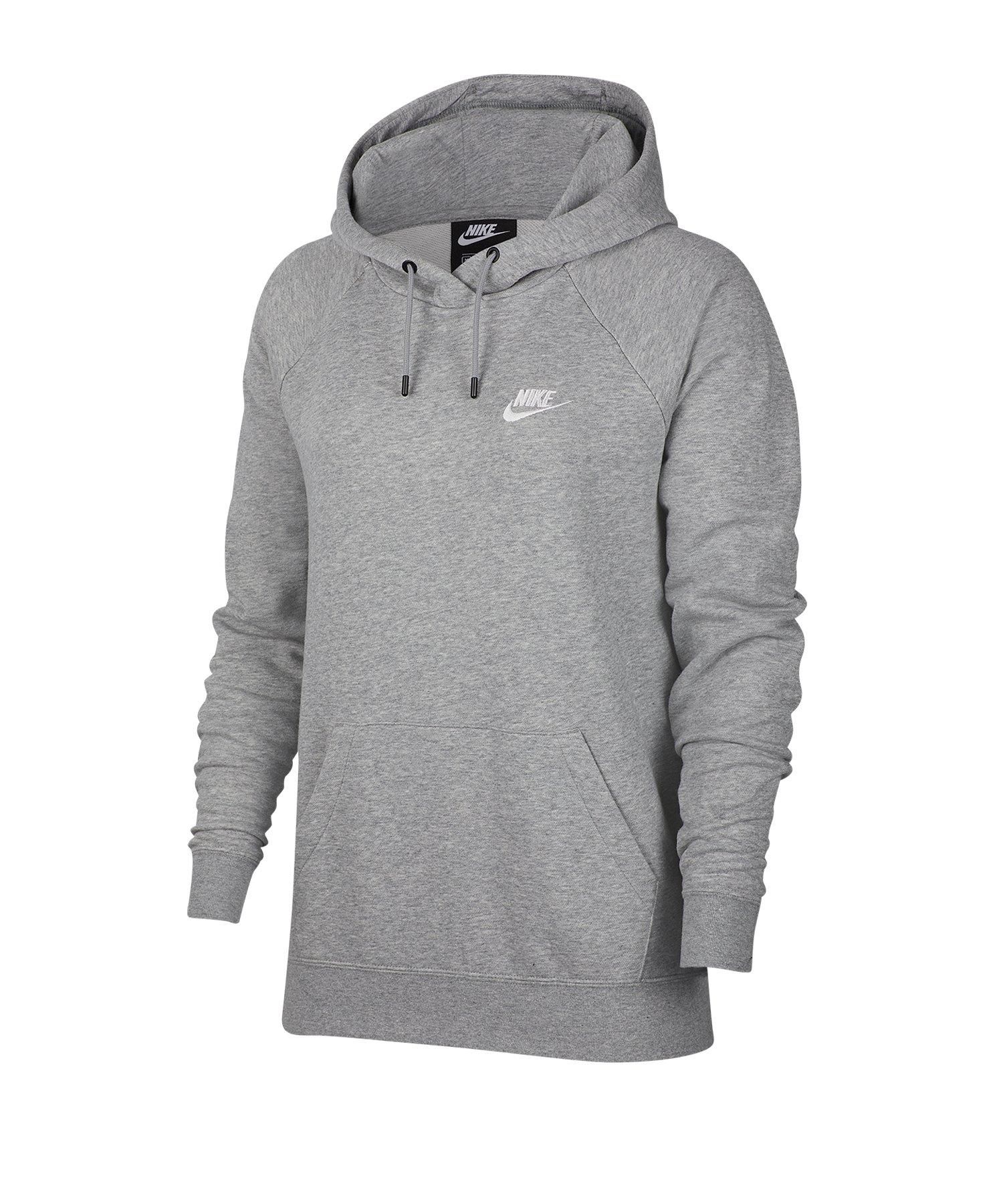 Nike Essential Kapuzensweatshirt Damen Grau F063 - grau