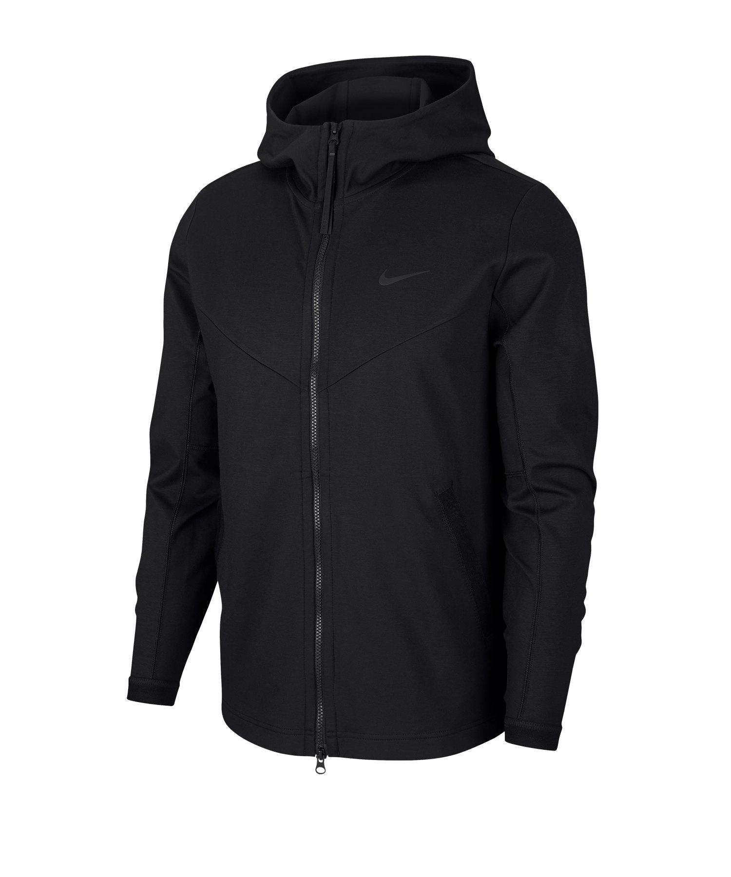 Nike Full-Zip Hooded Jacke Schwarz F010 - schwarz