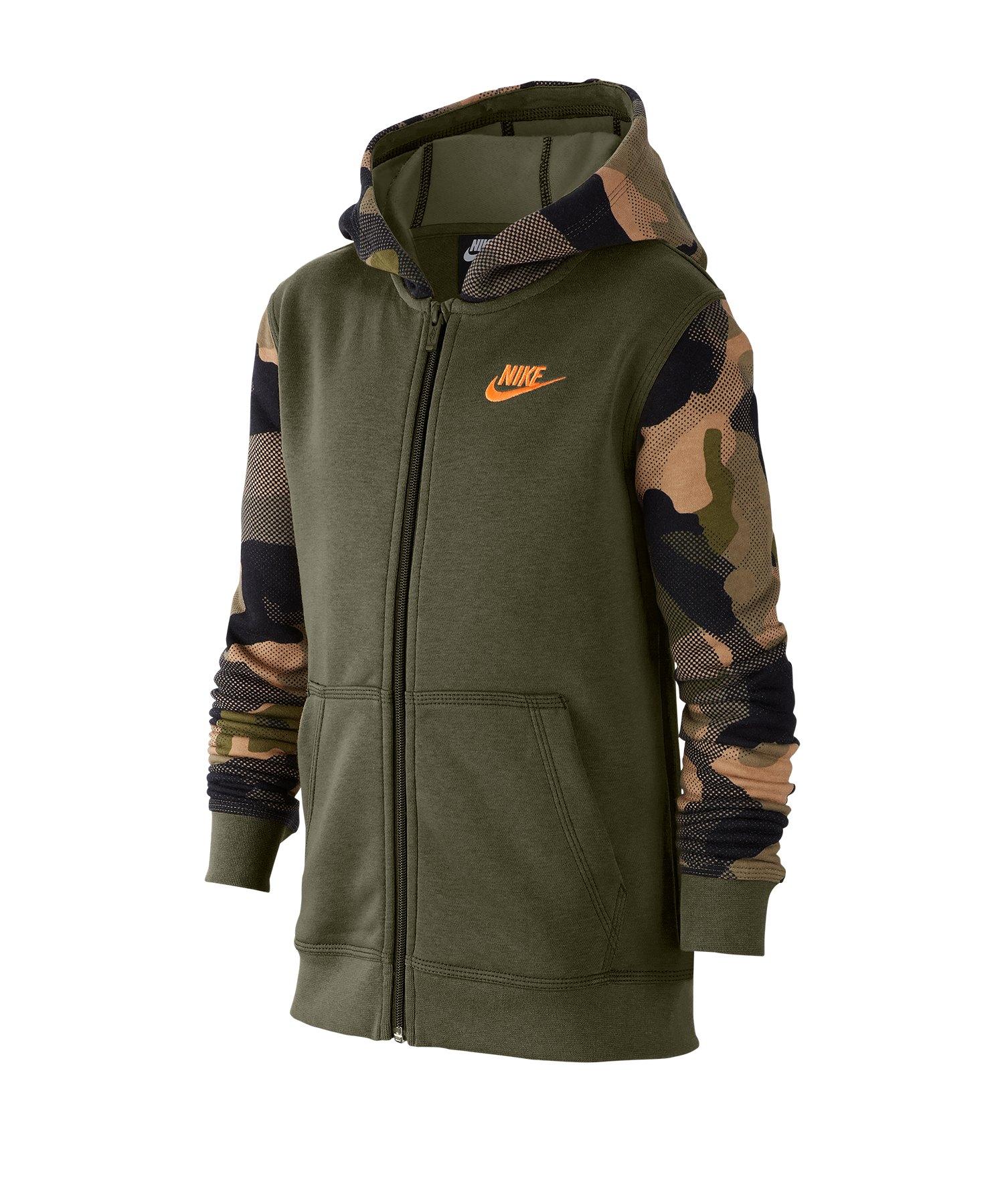 Nike Full-Zip Kapuzenjacke Kids Grün F222 - braun