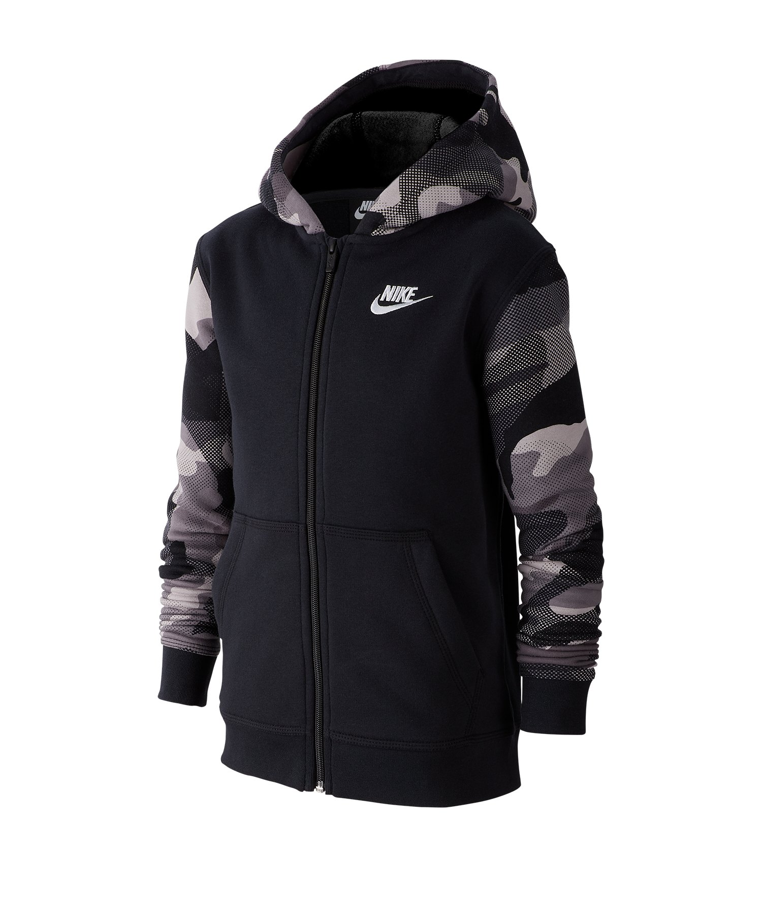 Nike Full-Zip Kapuzenjacke Kids Schwarz F010 - schwarz