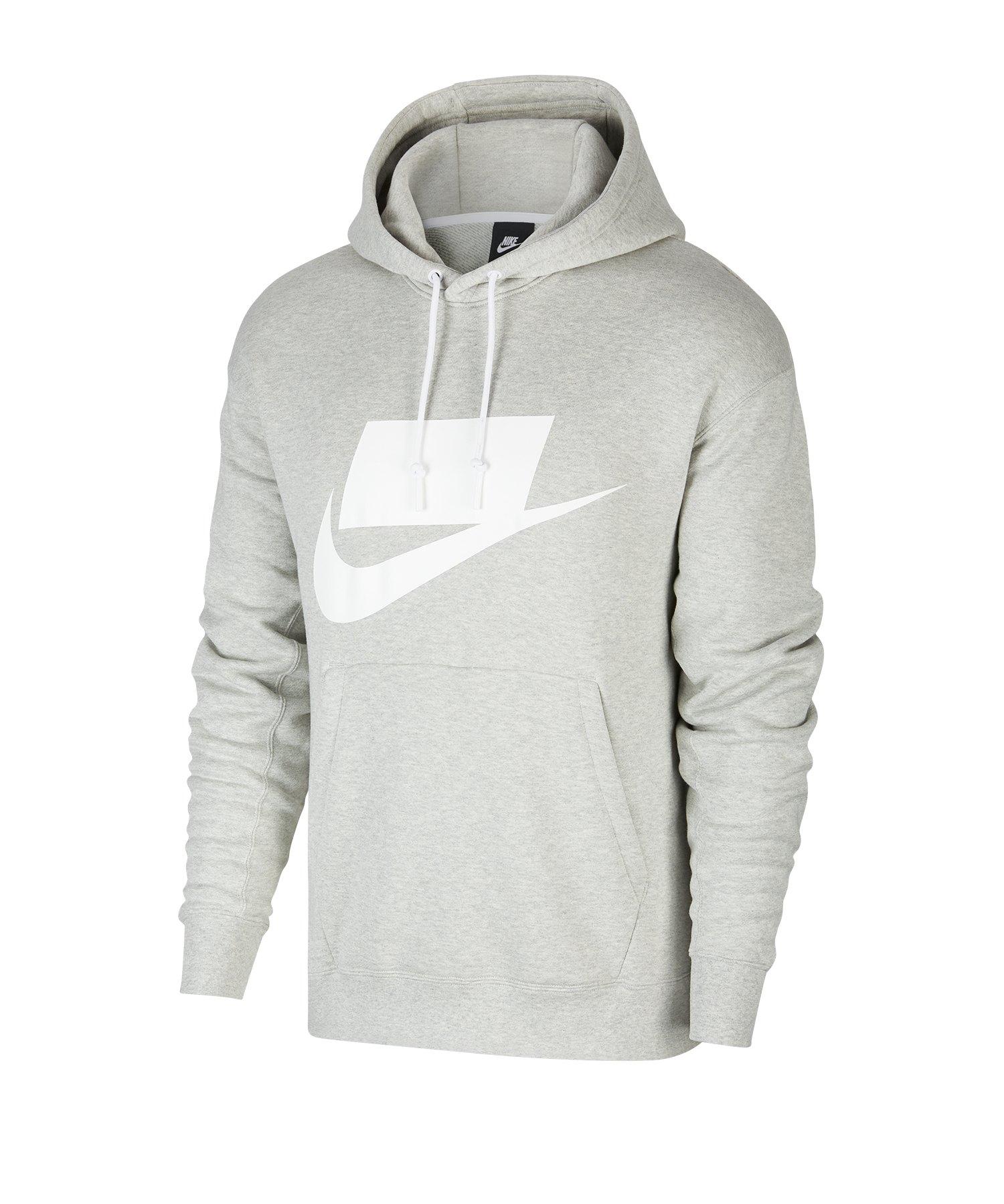 Nike French Terry Hoody Kapuzenpullover F050 - grau