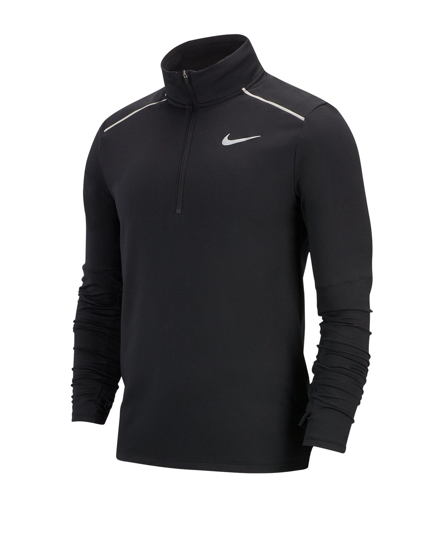 Nike Element 3.0 1/2-Zip Running Top langarm F010 - schwarz
