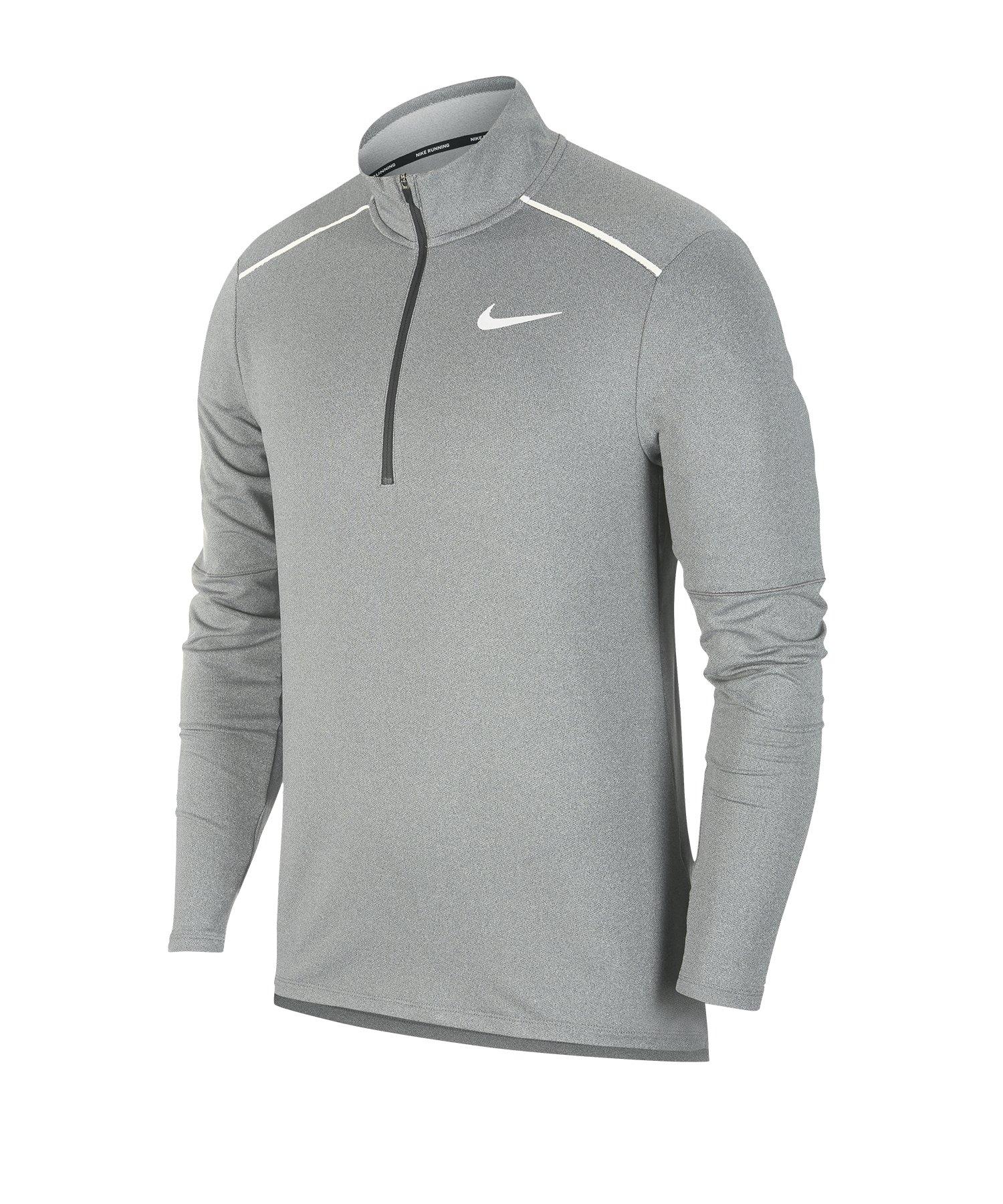 Nike Element 3.0 1/2-Zip Running Top langarm F068 - grau
