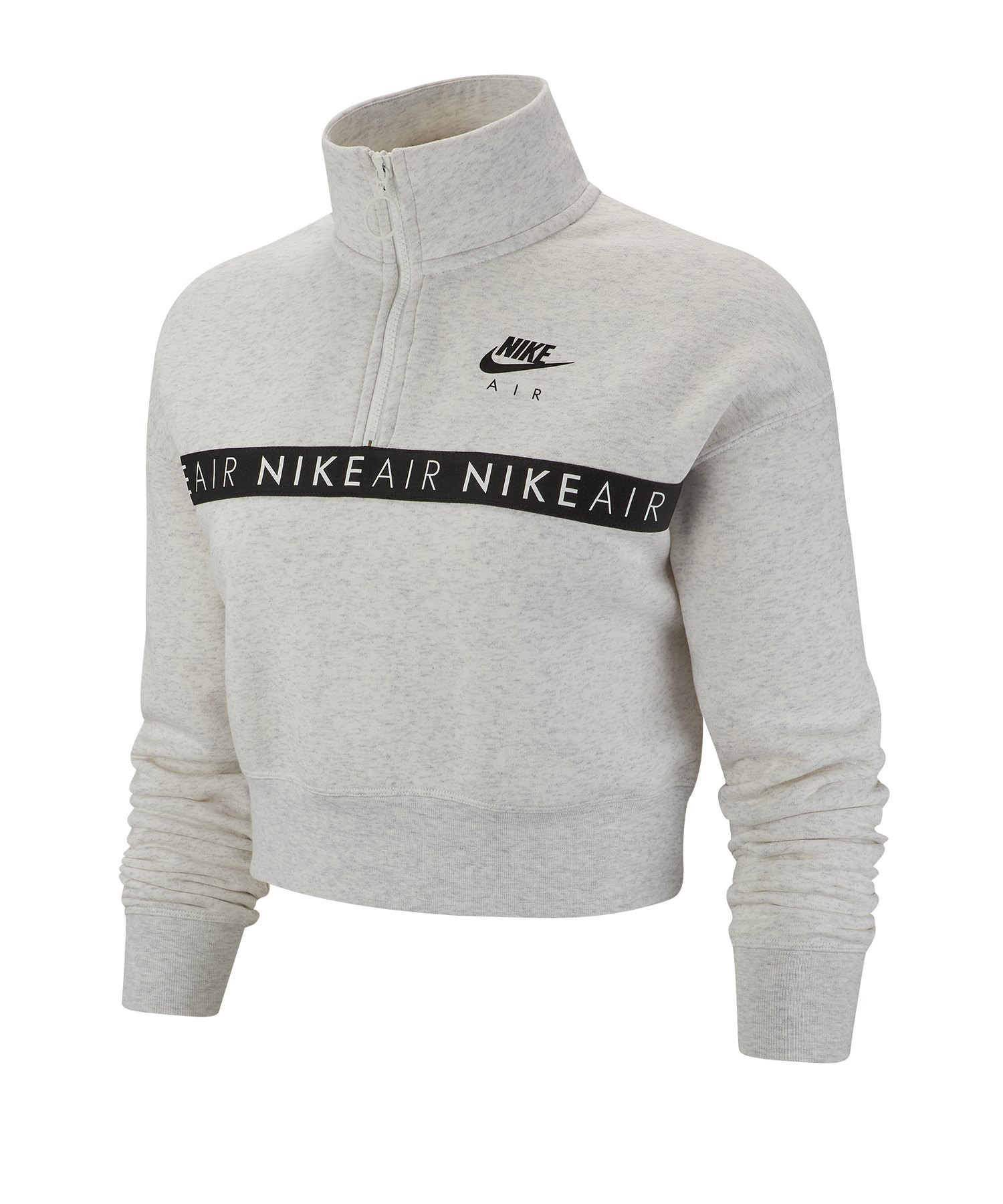 Nike Air 1/2 Zip Top langarm Damen Grau F051 - grau
