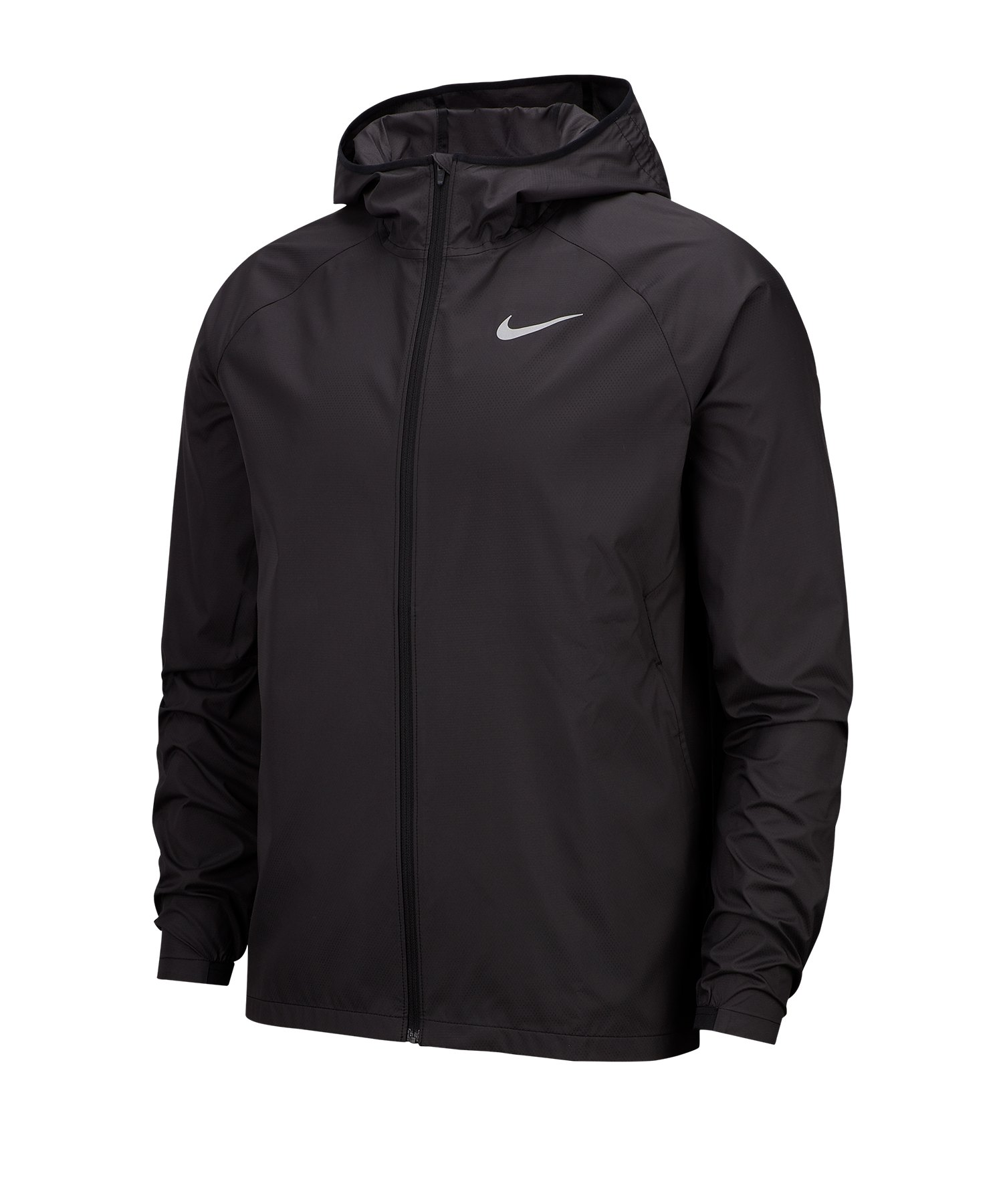 Nike Essential Hooded Laufjacke Running F010 - schwarz