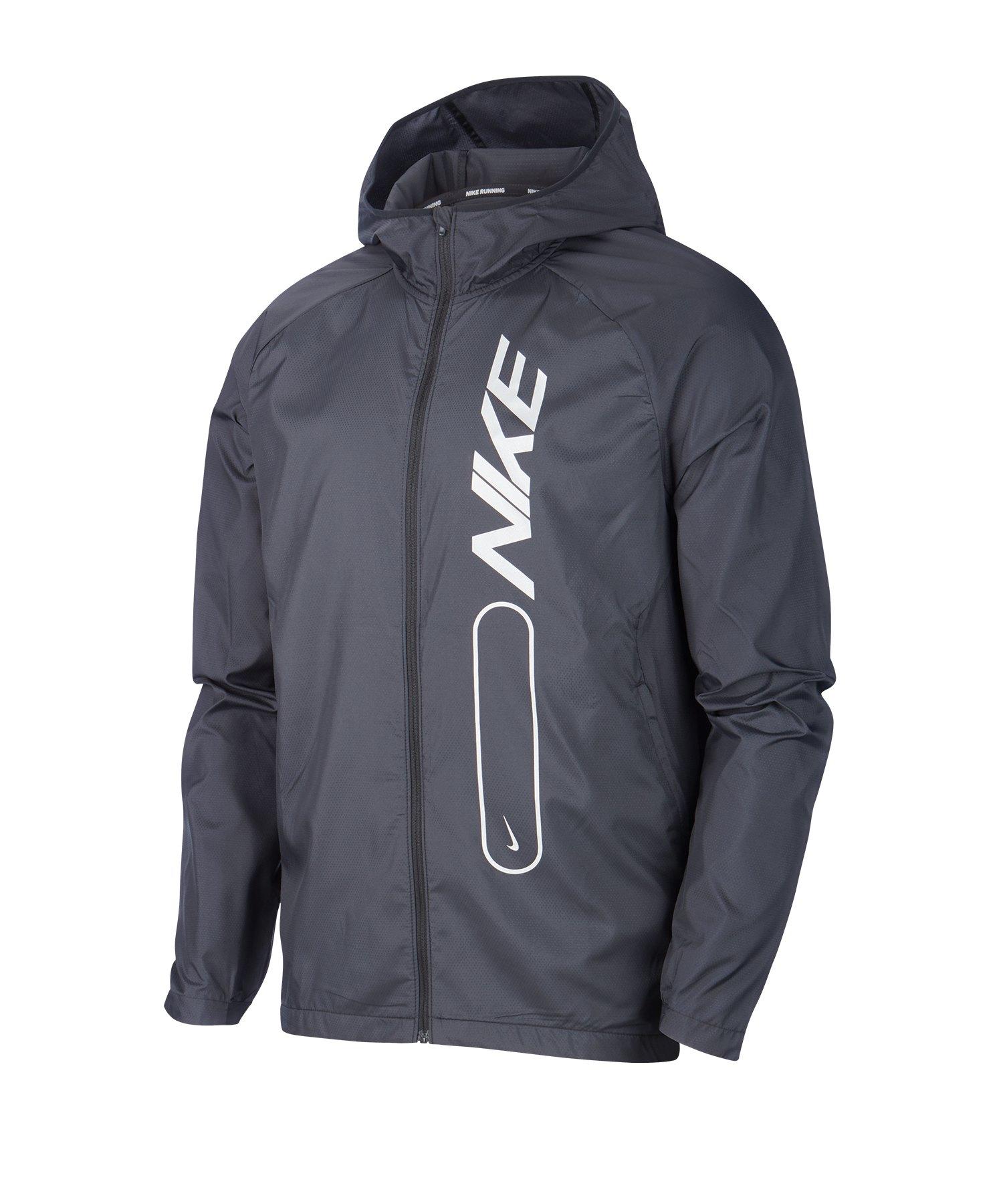 Nike Essential Running Kapuzenjacke Schwarz F010 - schwarz