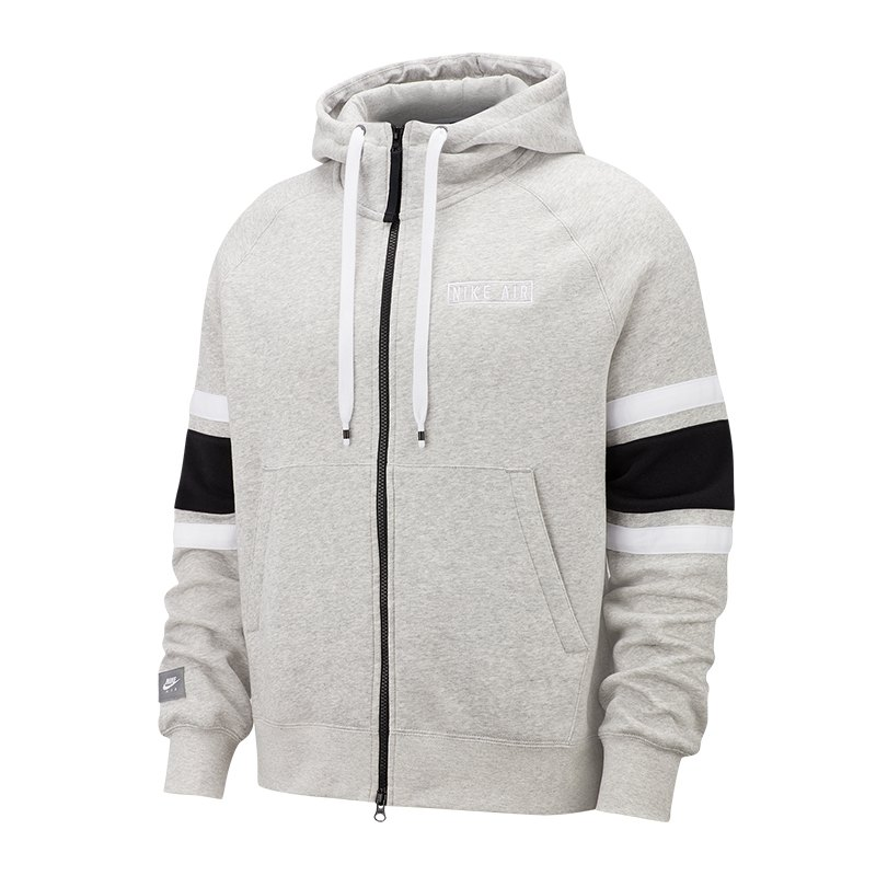 Nike Air Fleece Full-Zip Kapuzenpullover F050 - grau