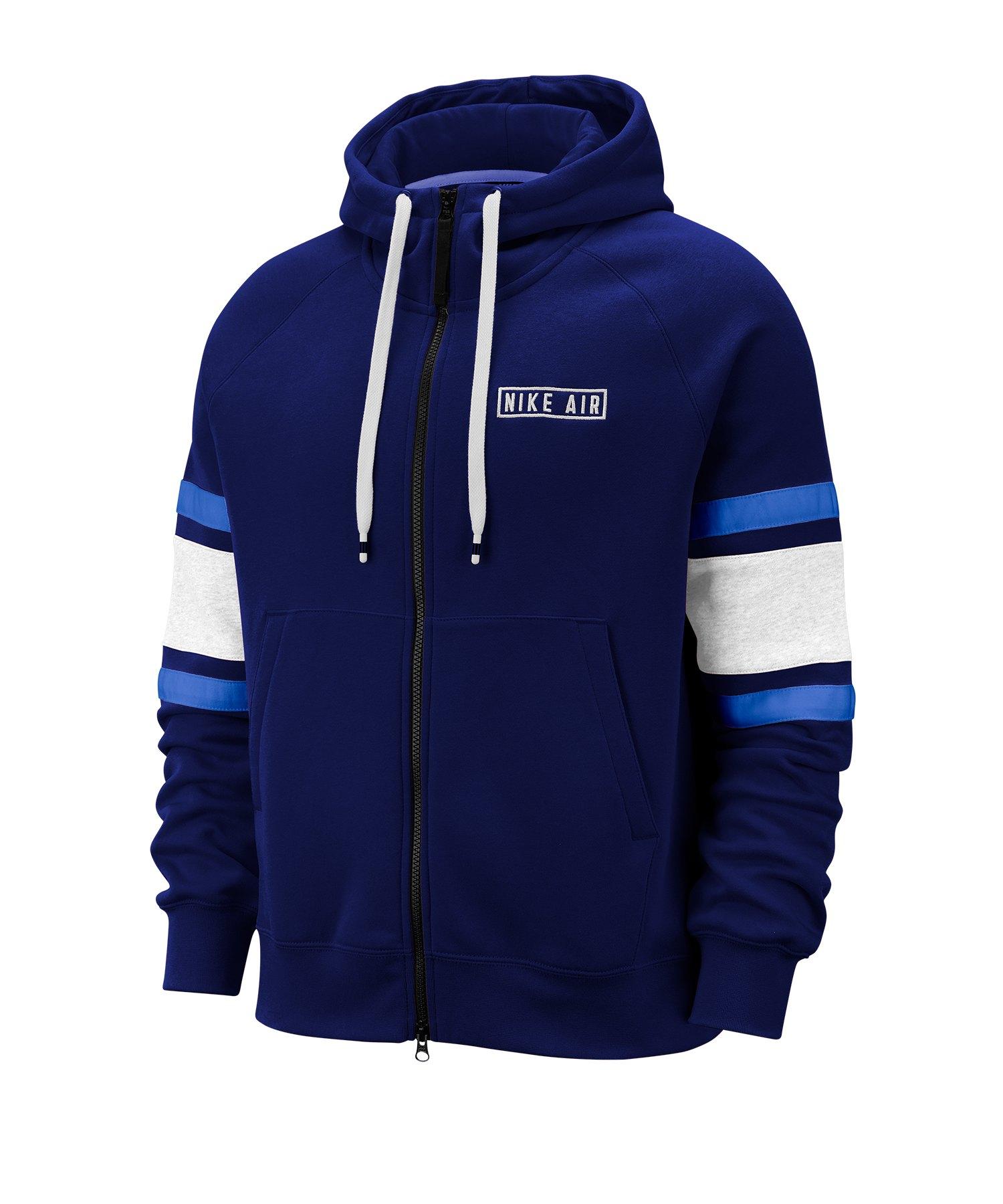 Nike Air Fleece Kapuzenjacke Blau F492 - blau
