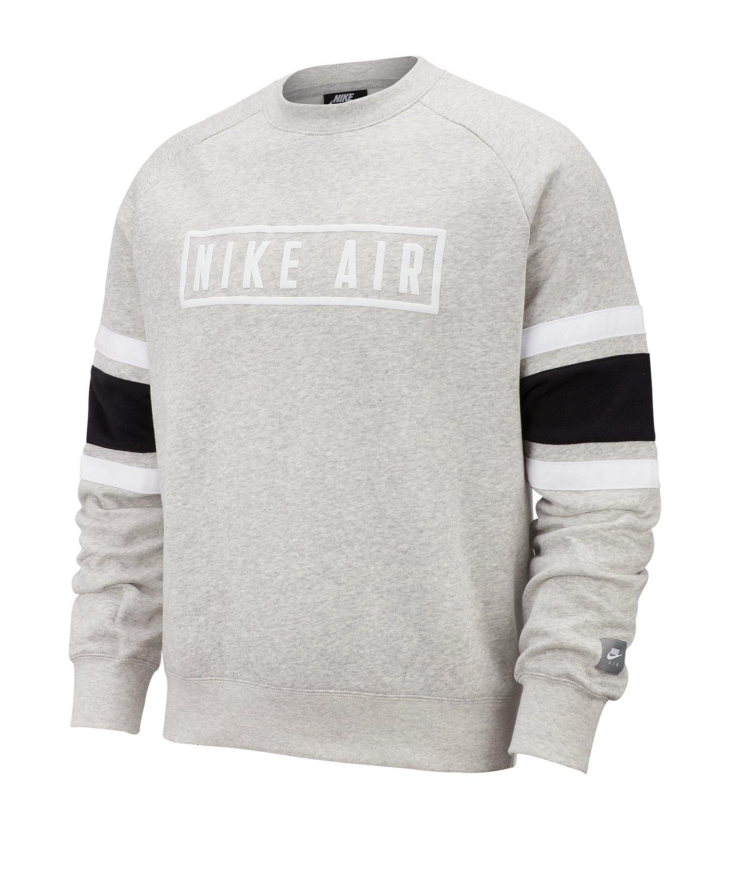 Nike Air Fleece Crew Sweatshirt Grau F050 - grau