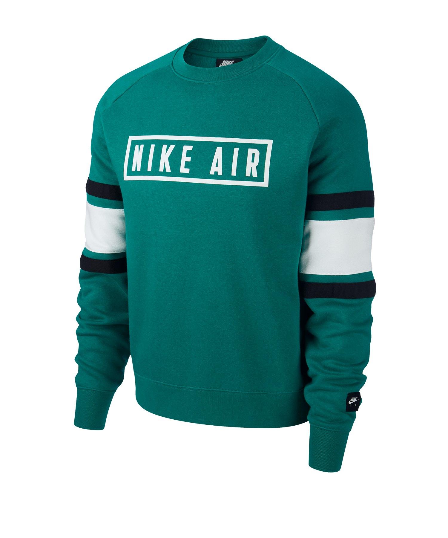 Nike Air Fleece Crew Sweatshirt Grün F340 - gruen