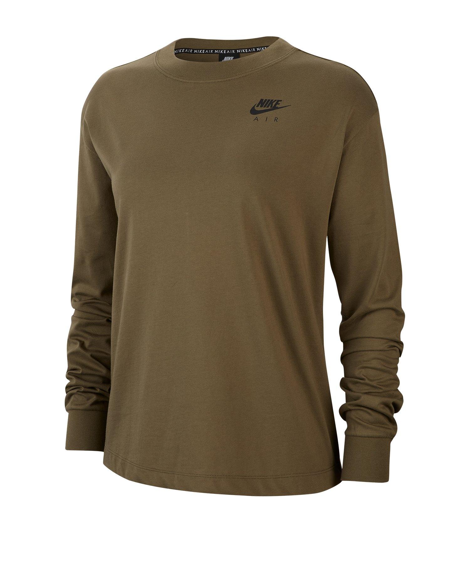 Nike Air Sweatshirt Damen Grün F222 - gruen