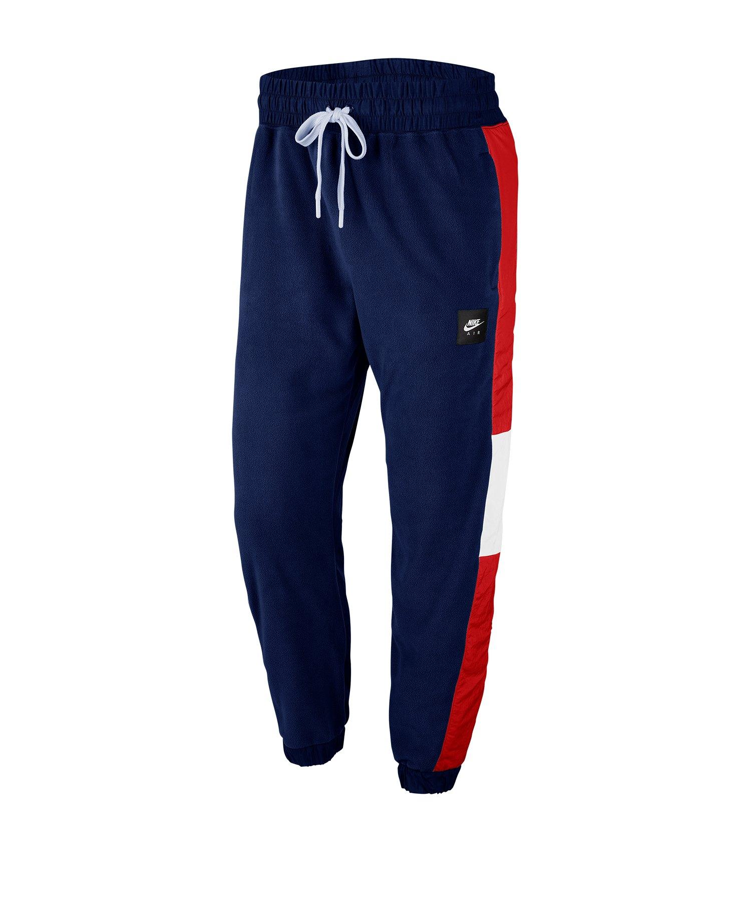 Nike Air Pants Trainingshose Blau Rot F492 - blau