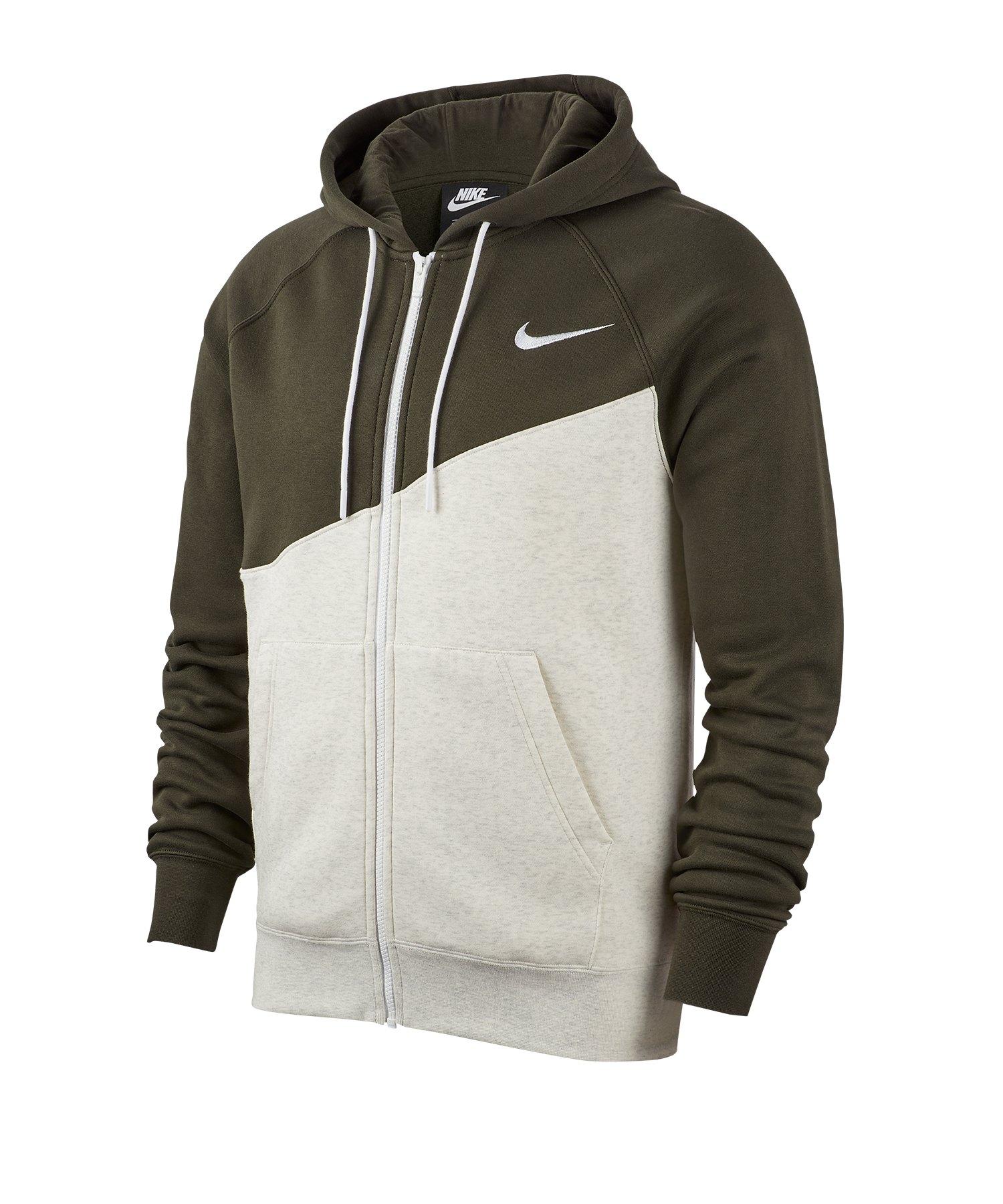 Nike Swoosh Full-Zip Kapuzenjacke Weiss F141 - weiss
