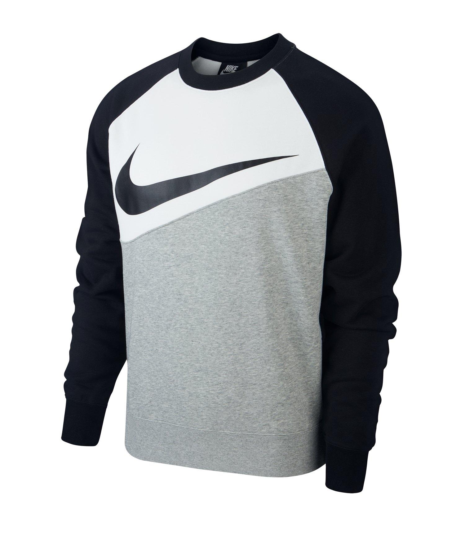 Nike Swoosh French Terry Crew Langarmshirt F064 - grau