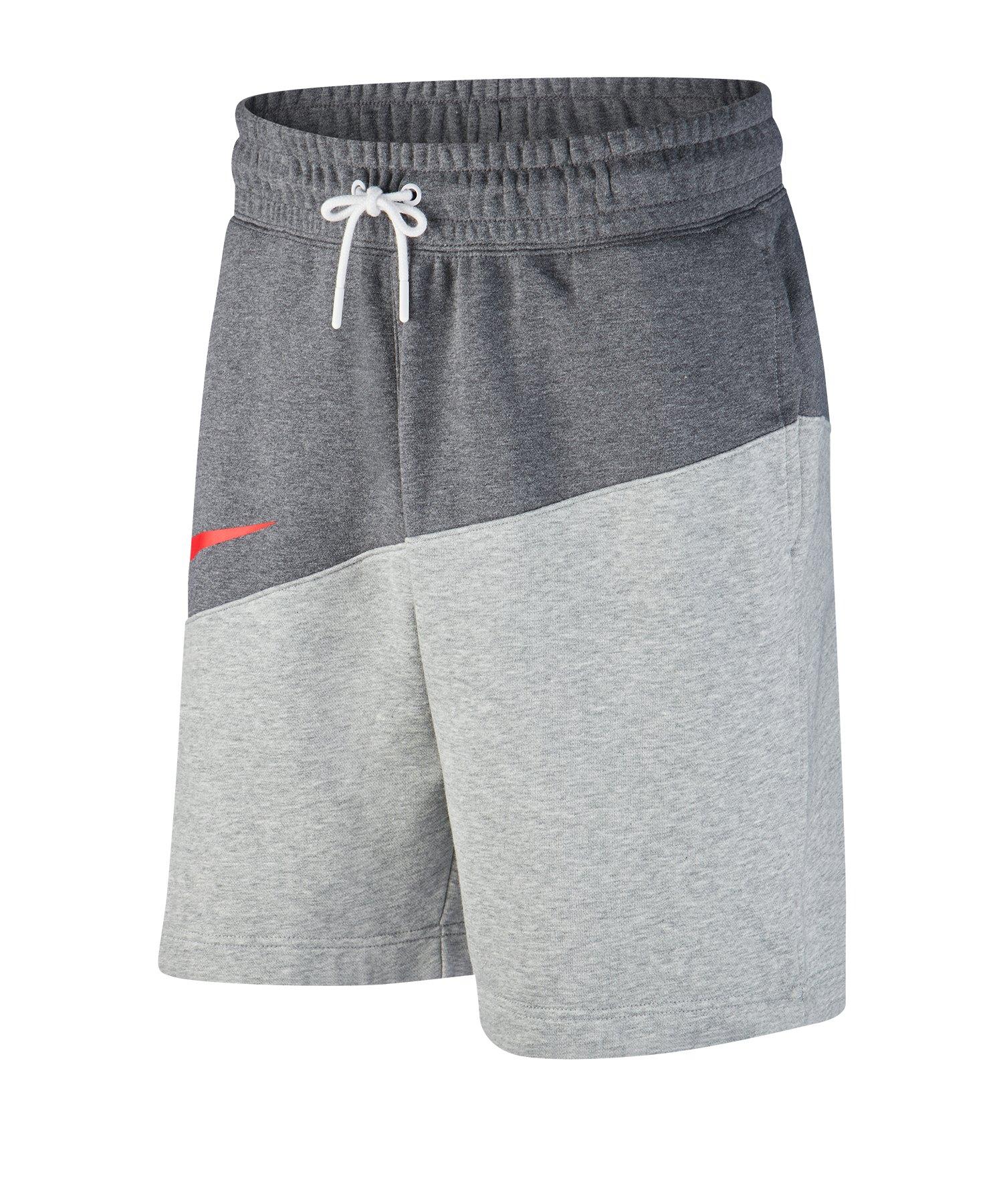 Nike Swoosh French Terry Short Grau F072 - grau
