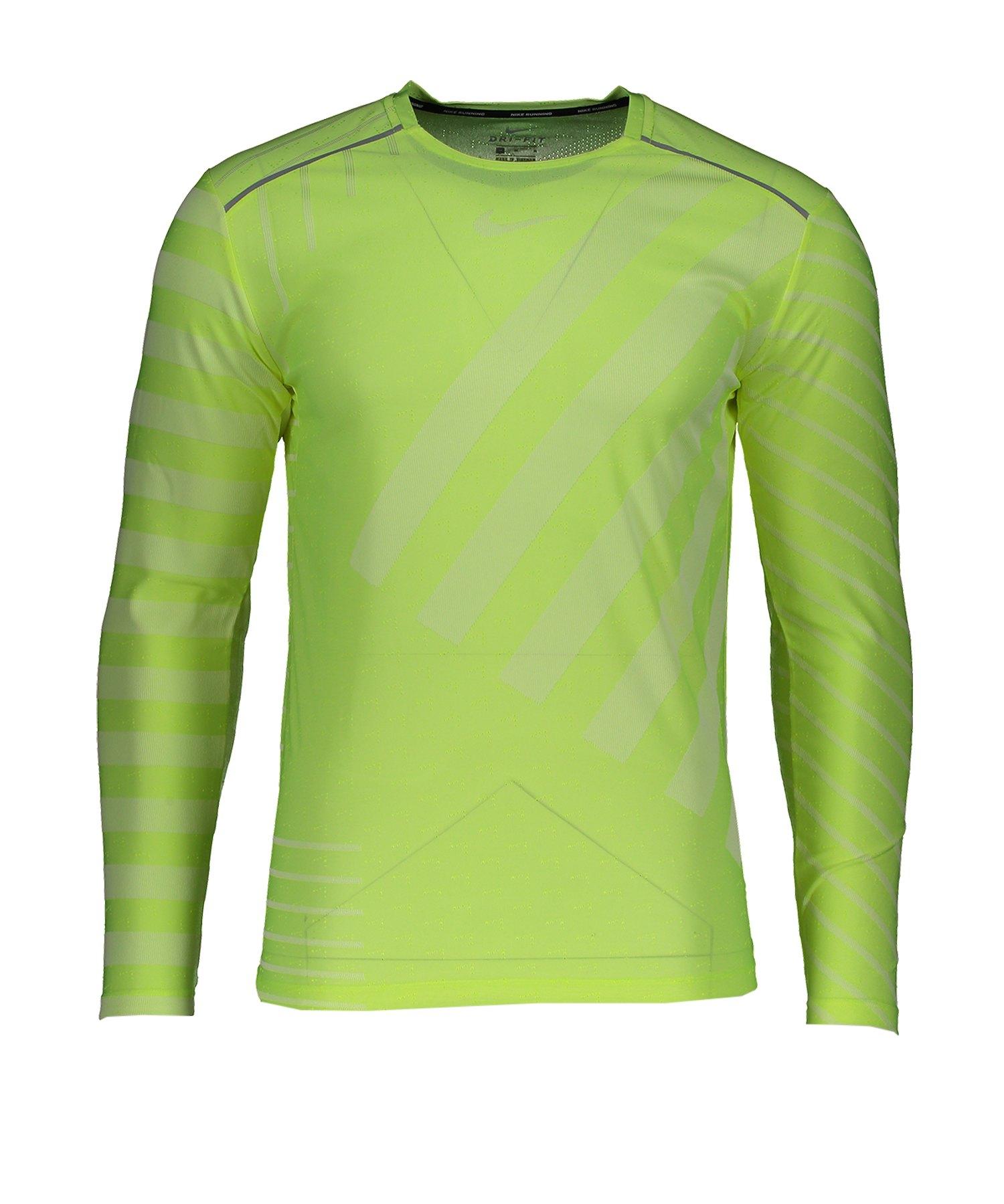 Nike Tech Knit Trainingsshirt langarm Gelb F702 - gelb