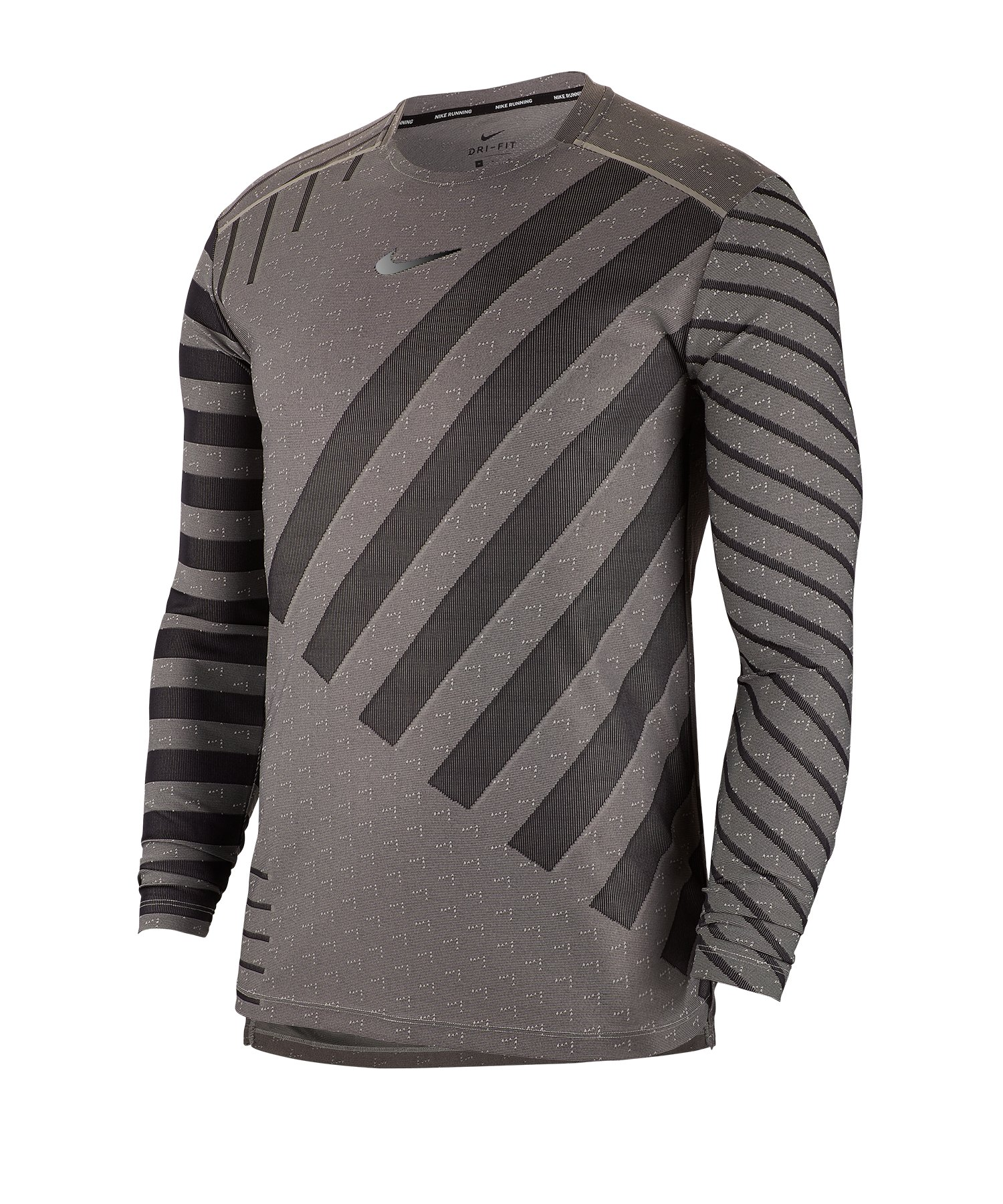 Nike Tech Knit Trainingsshirt langarm Grau F097 - grau