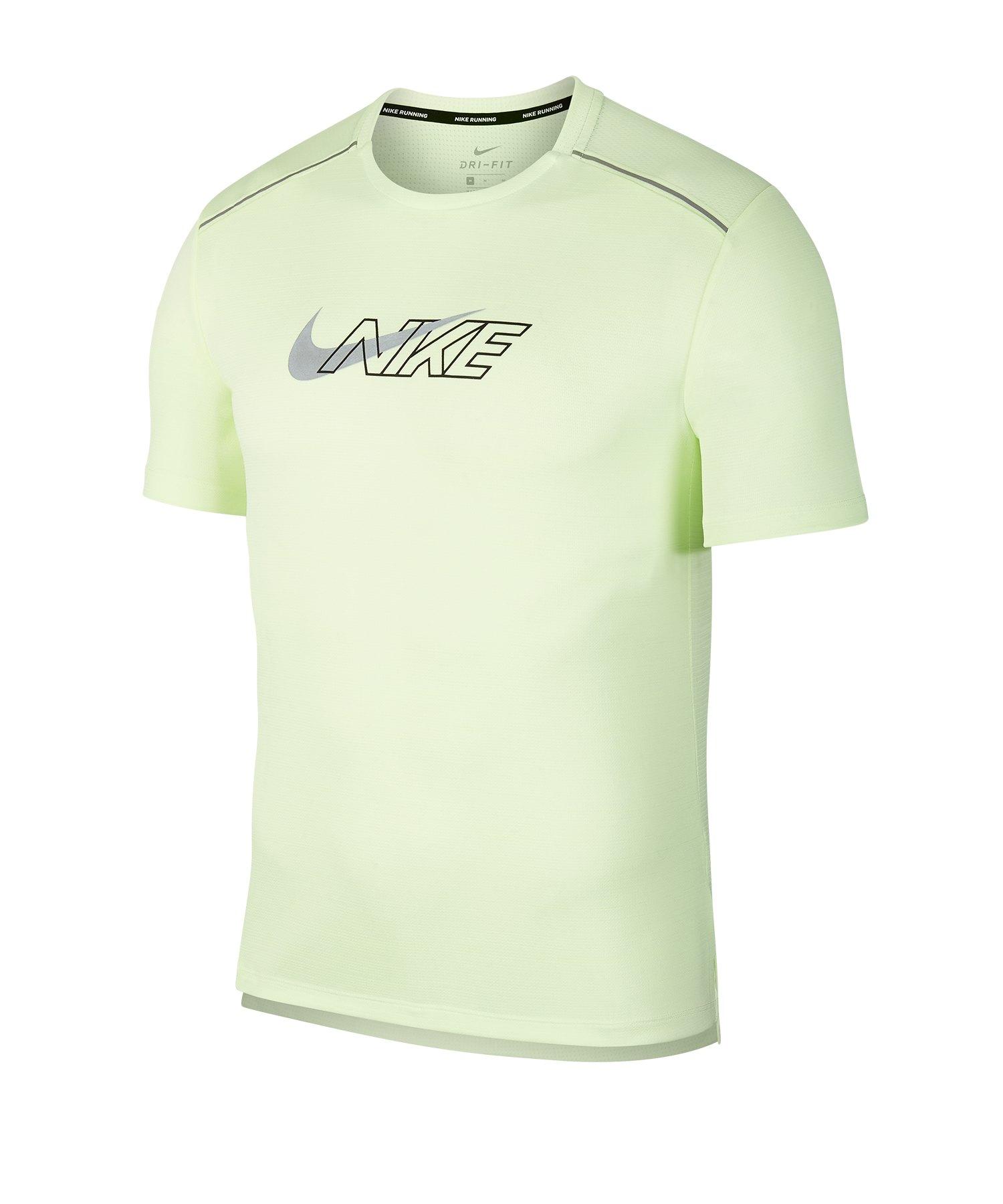 Nike Dri-FIT Miler Running Shirt kurzarm Gelb F702 - gelb
