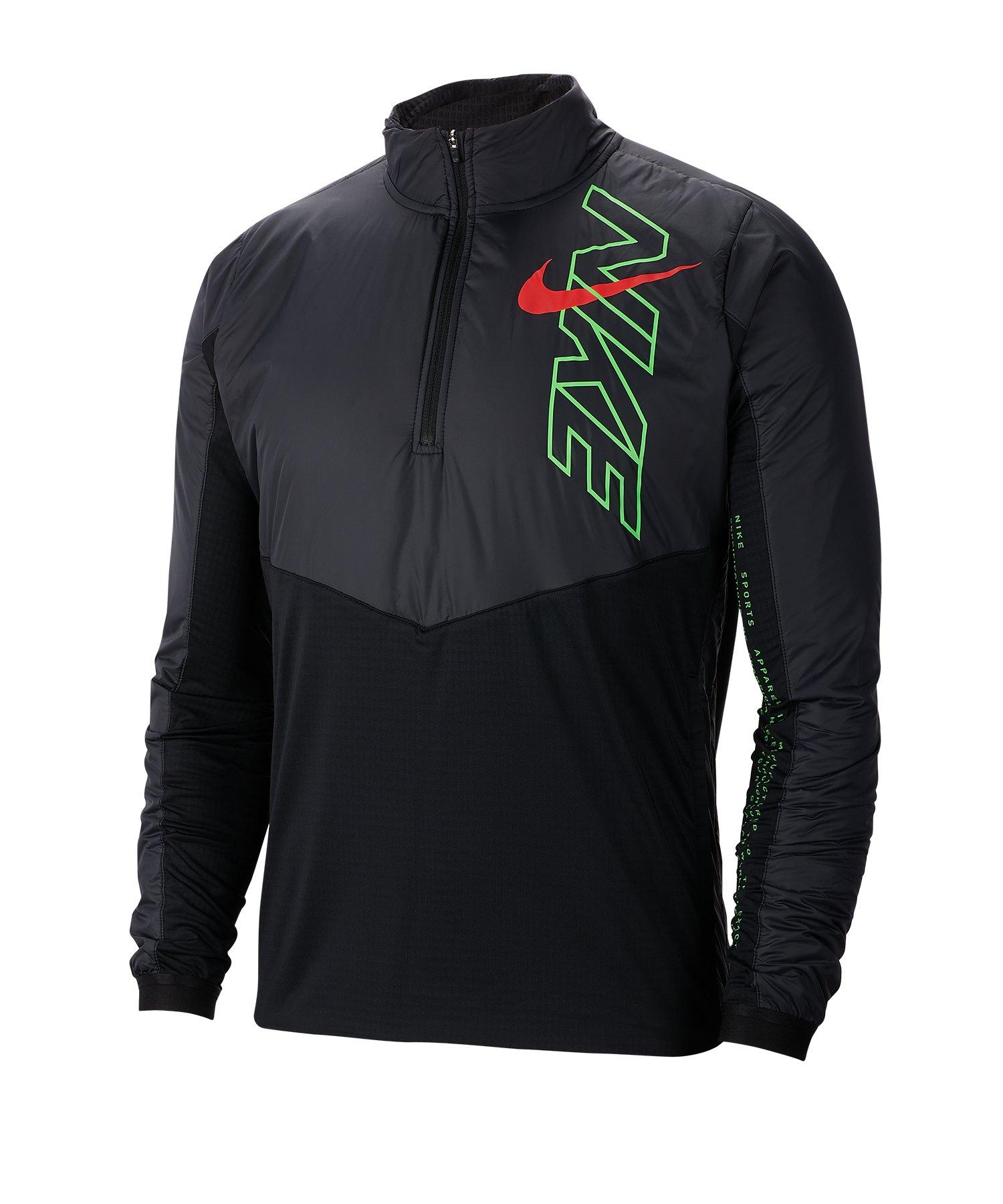 Nike Element 1/2-Zip Running Top langarm F010 - schwarz