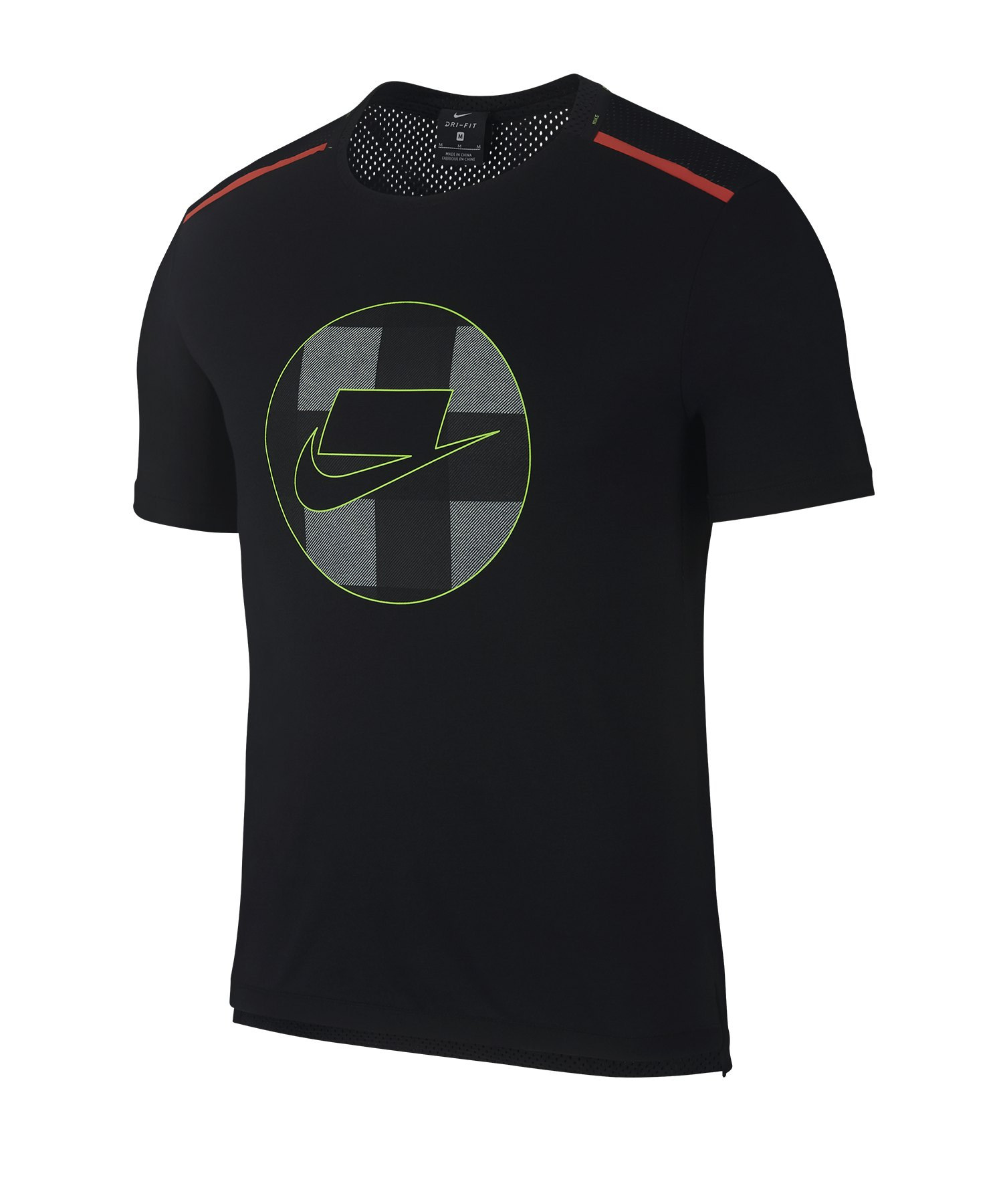 Nike Wild Run Shortsleeve Mesh Shirt Running F010 - schwarz