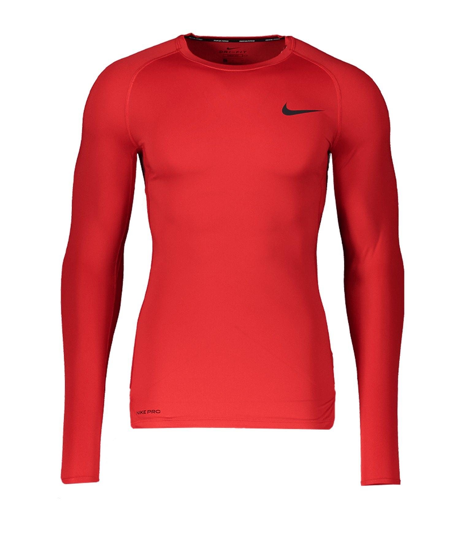 Nike Pro Langarmshirt Rot F657 - rot