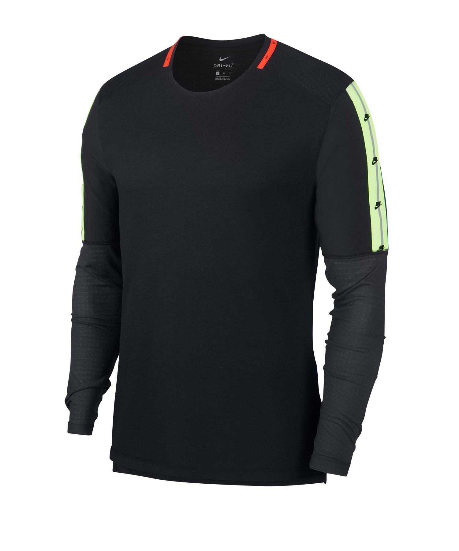 Nike Running Sweatshirt Schwarz F010 - schwarz