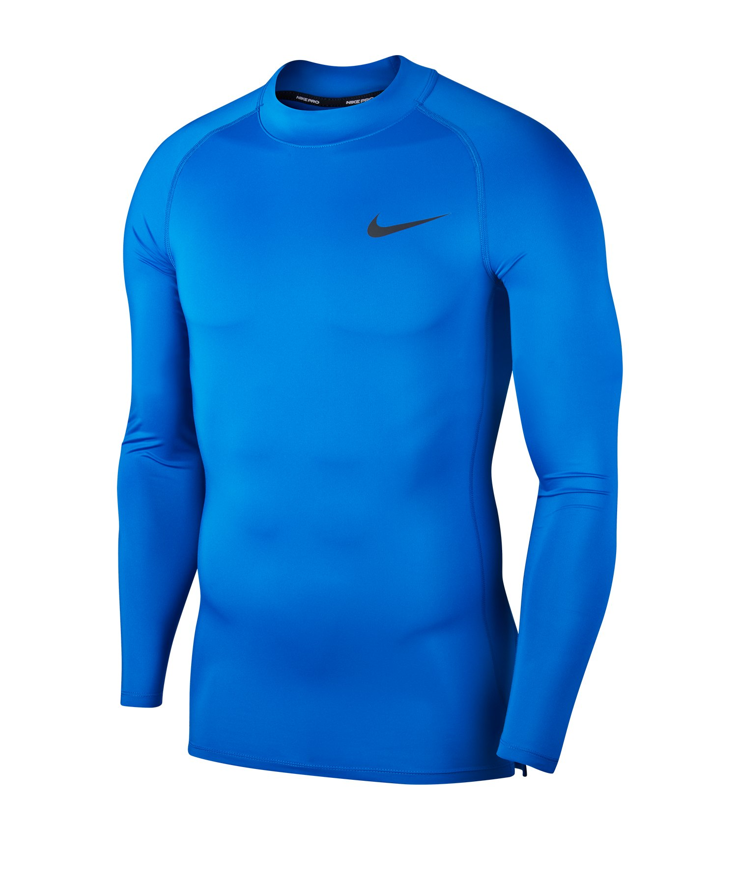 Nike Pro Training Top Mock langarm Blau F480 - blau