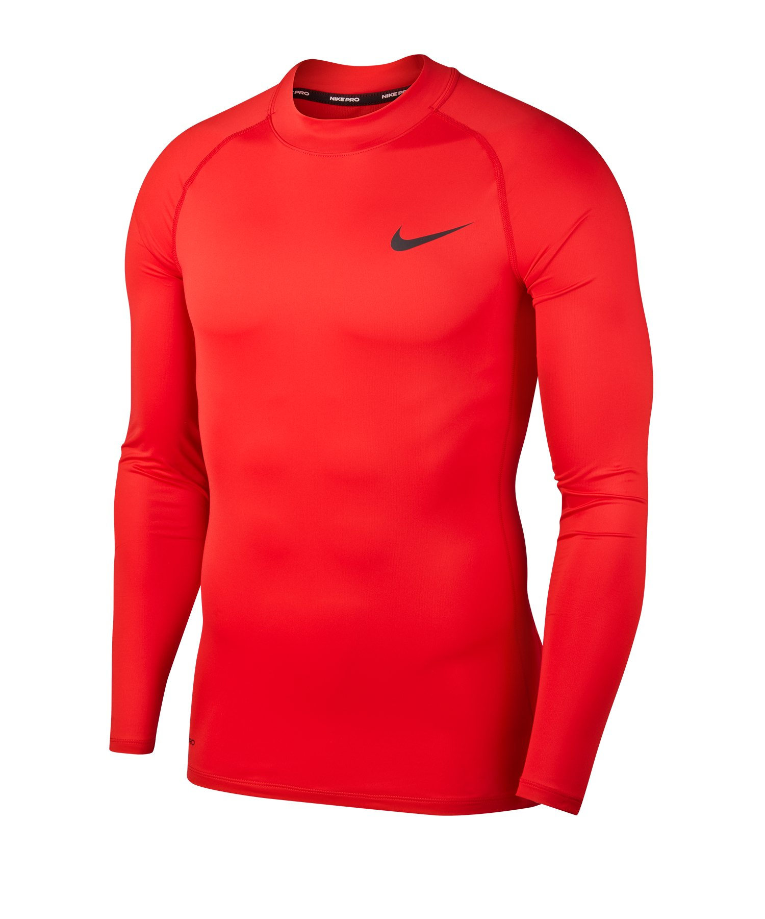 Nike Pro Trainingsshirt langarm Rot F657 - rot