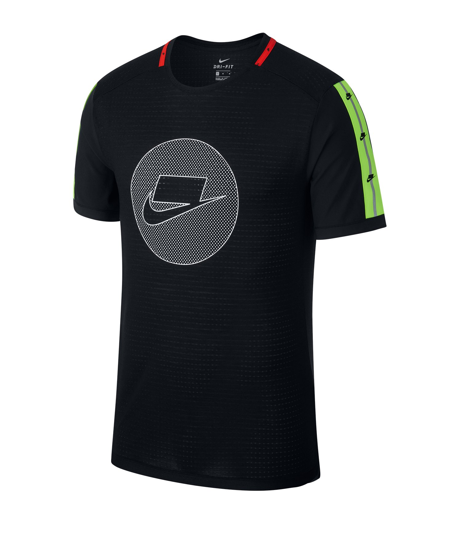 Nike Wild Running Shirt kurzarm Schwarz F010 - schwarz