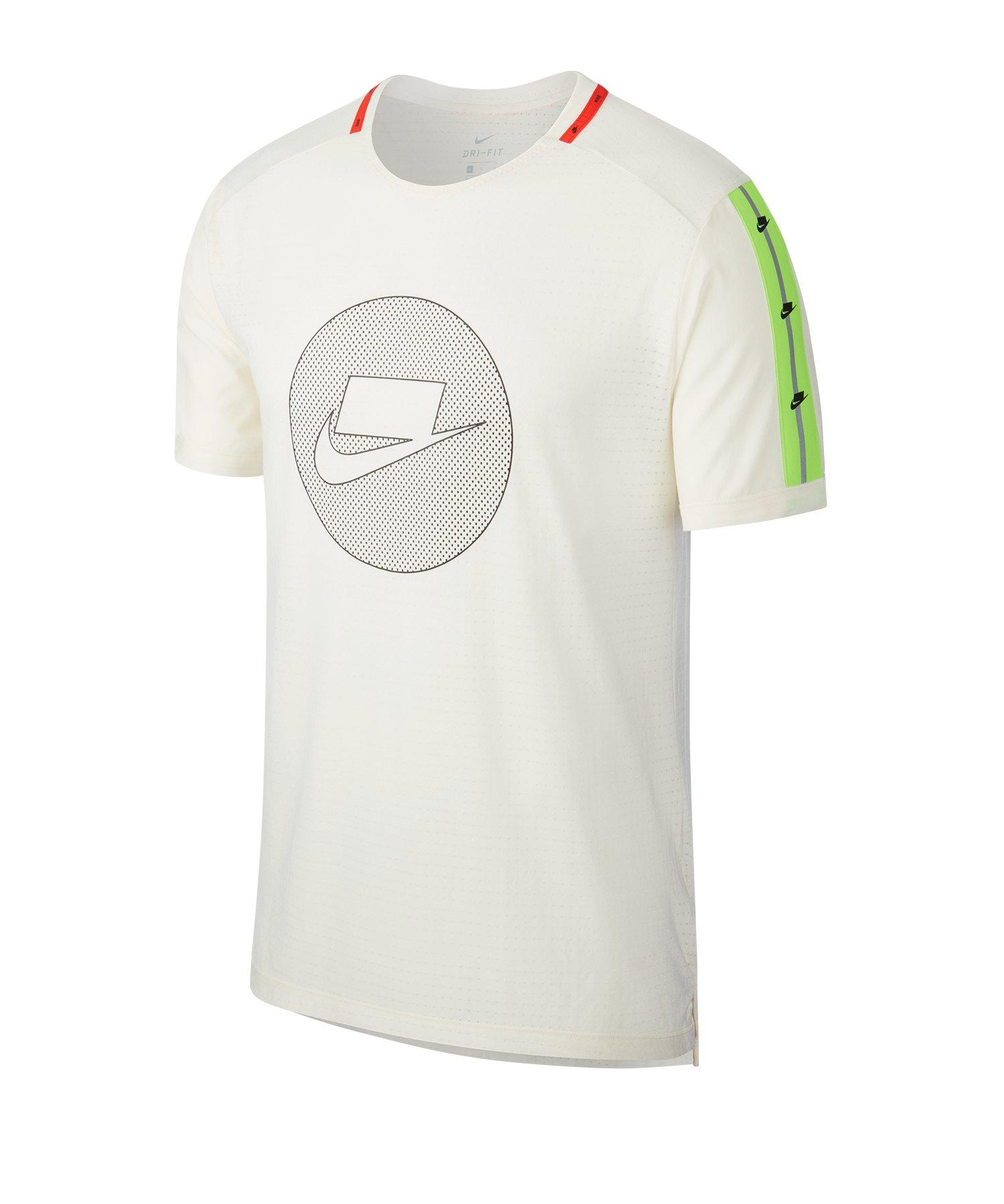 Nike Wild Running Shirt kurzarm Weiss F110 - weiss