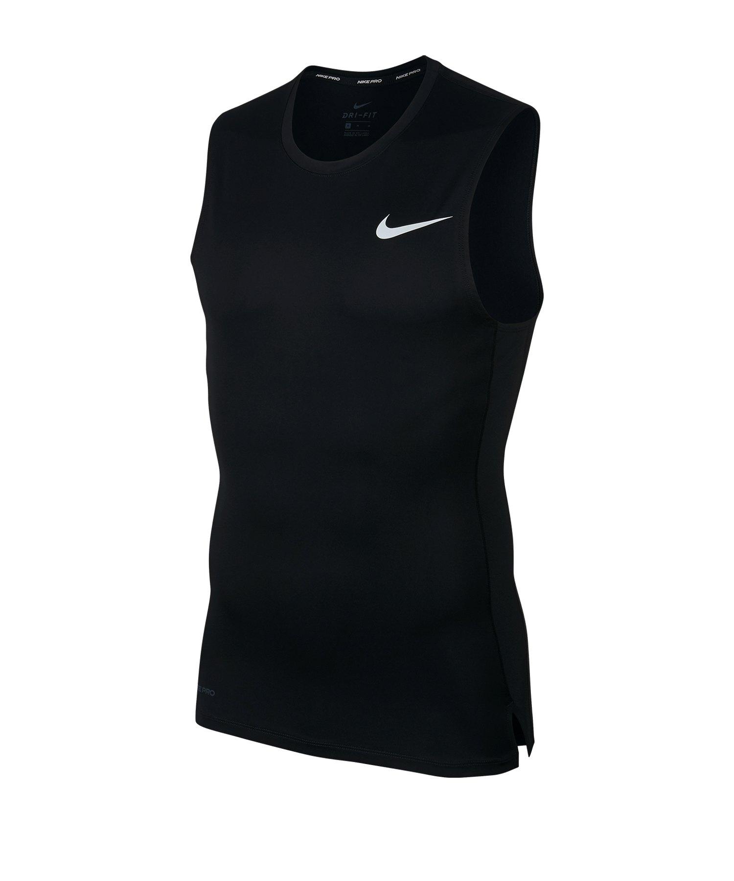 Nike Pro Tanktop Schwarz Weiss F010 - schwarz