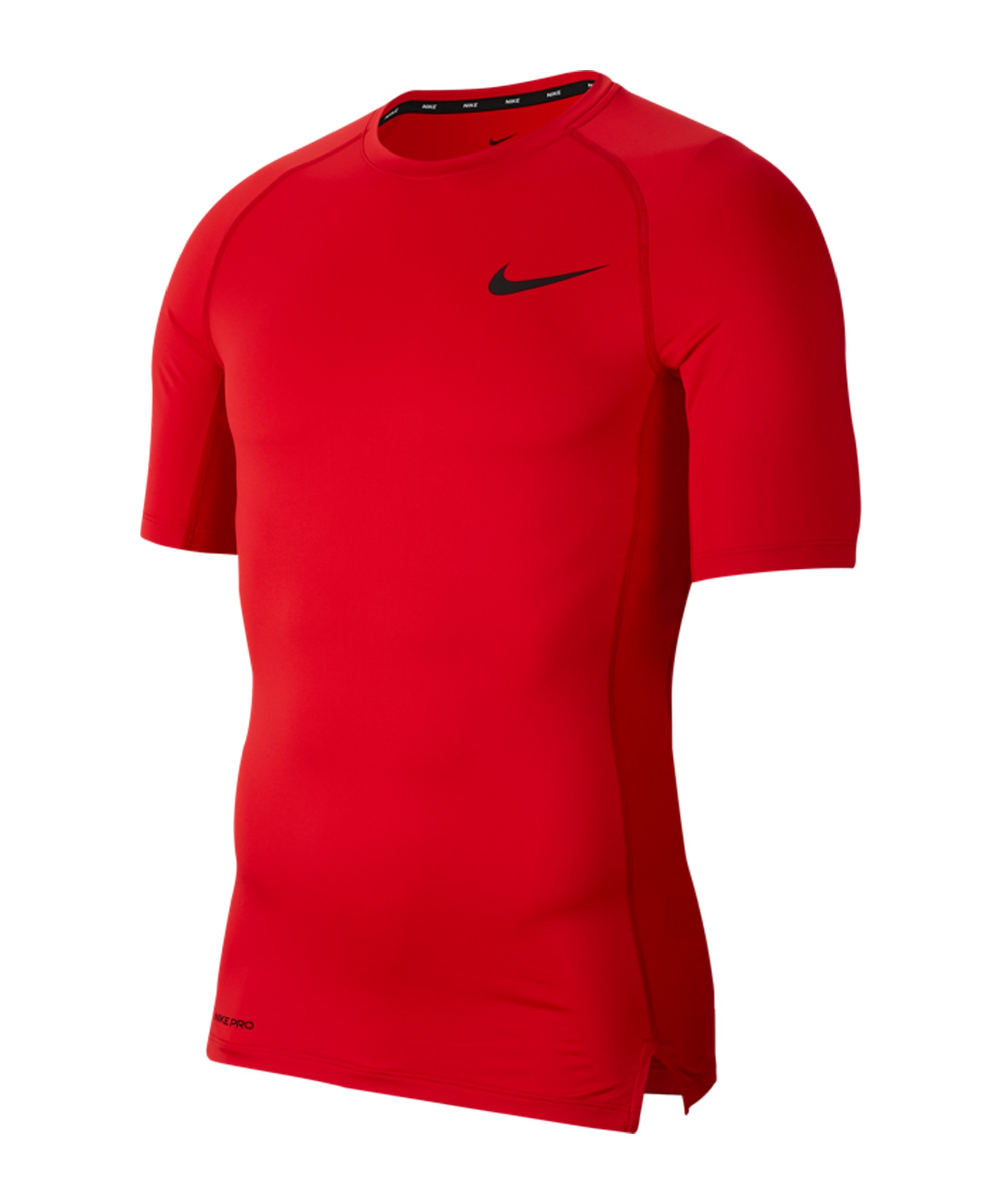 Nike Pro T-Shirt kurzarm Rot F657 - rot