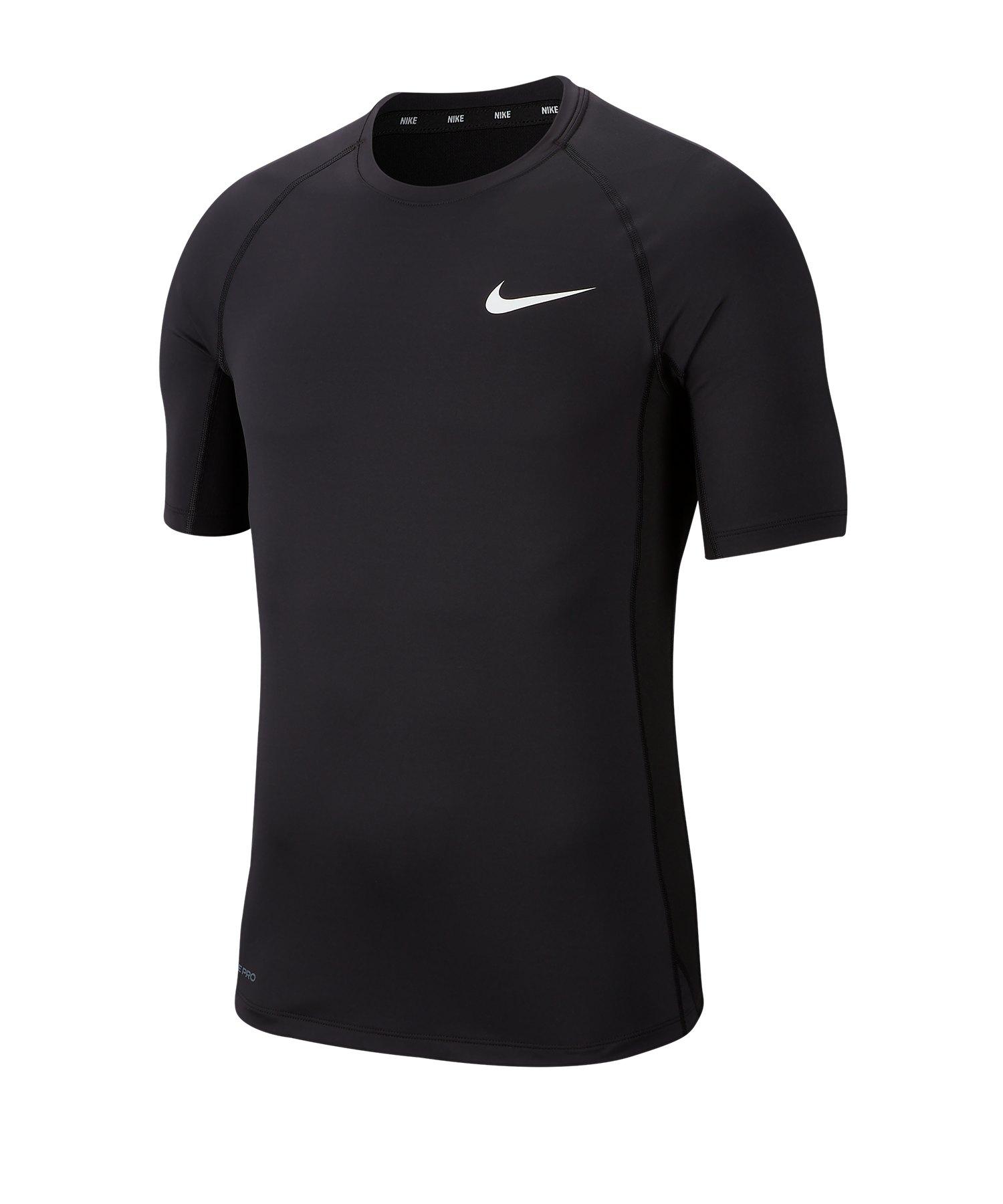 Nike Pro Compression Shortsleeve Shirt F010 - schwarz