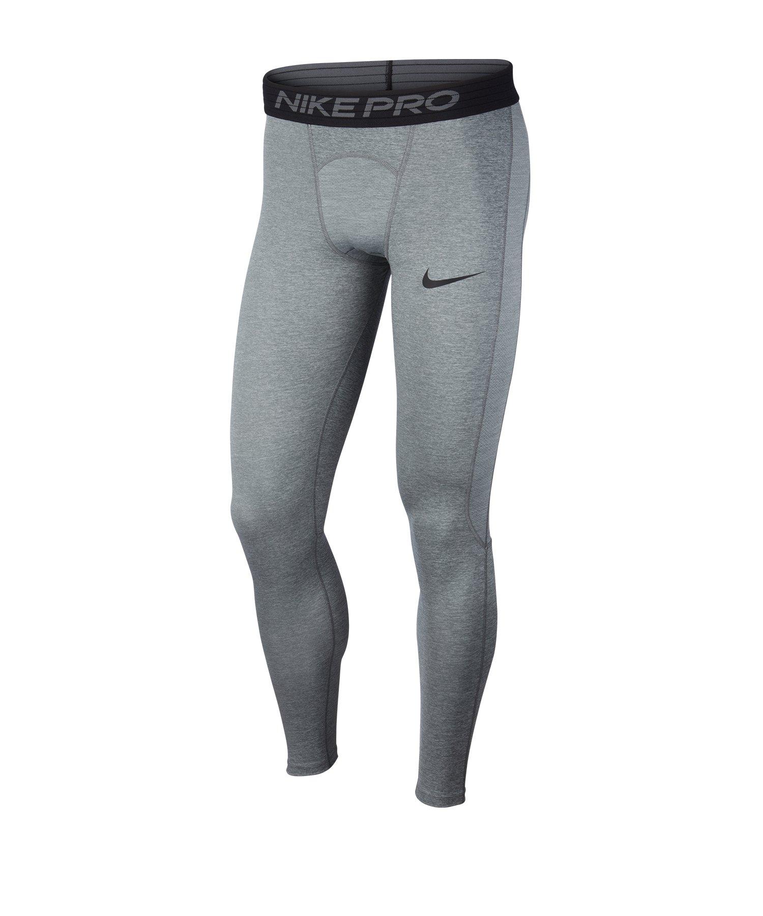 Nike Pro Tight Hose lang Grau F085 - grau