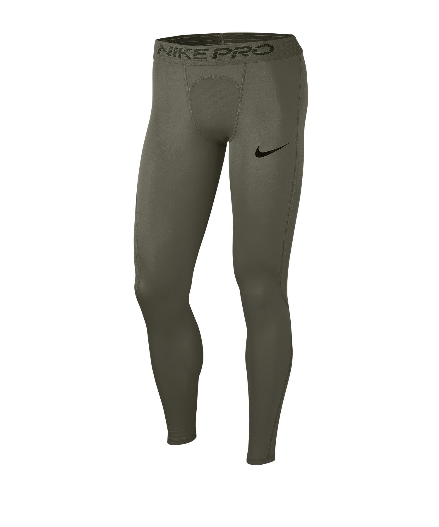 Nike Pro Tights Hose lang Grün F325 - gruen
