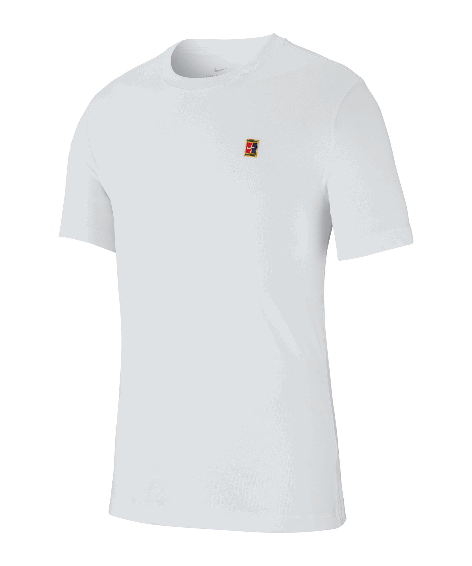 Nike NKTC Court EMB Tee T-Shirt Weiss F100 - weiss