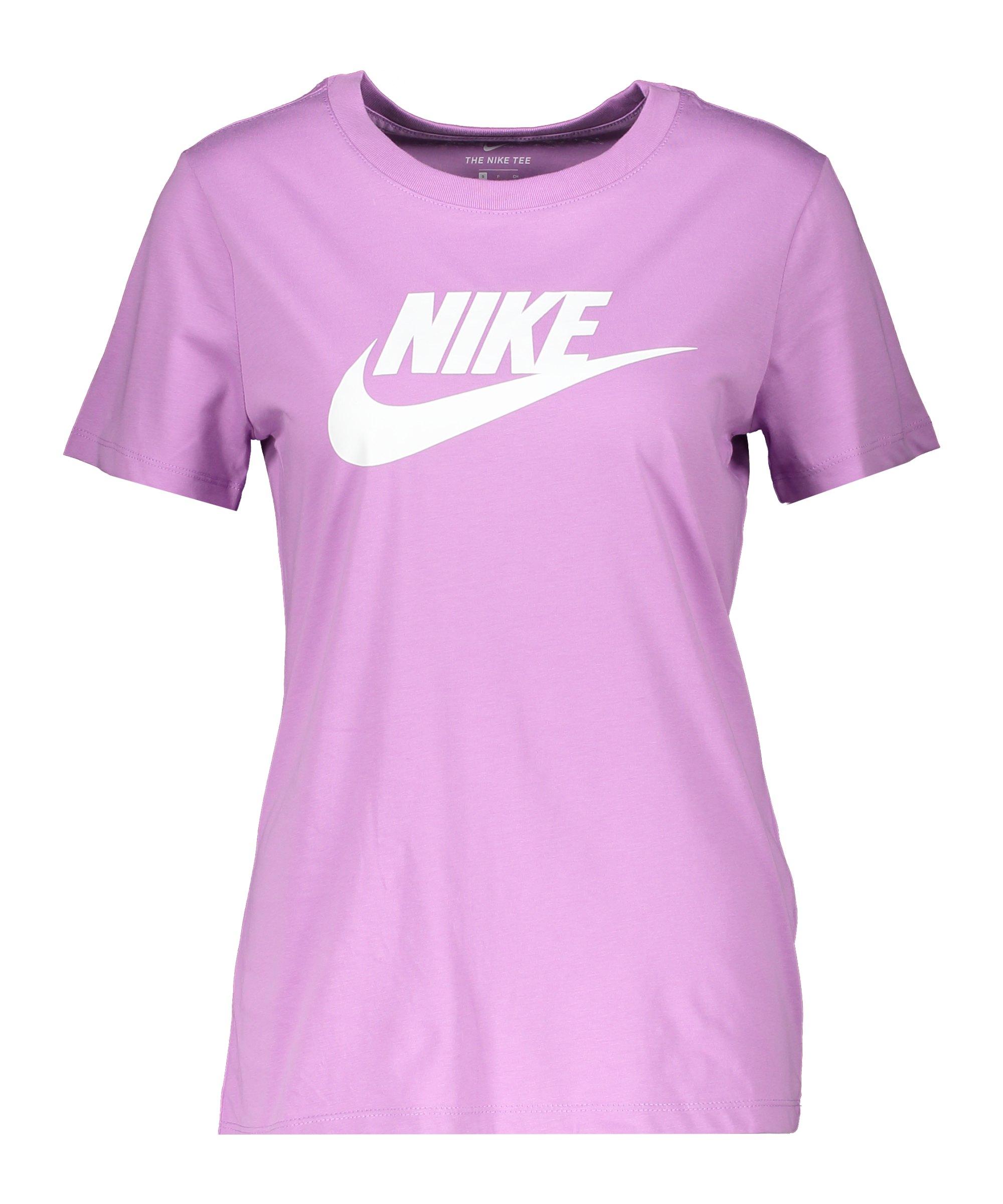 Nike Essential T-Shirt Damen Lila Weiss F591 - lila