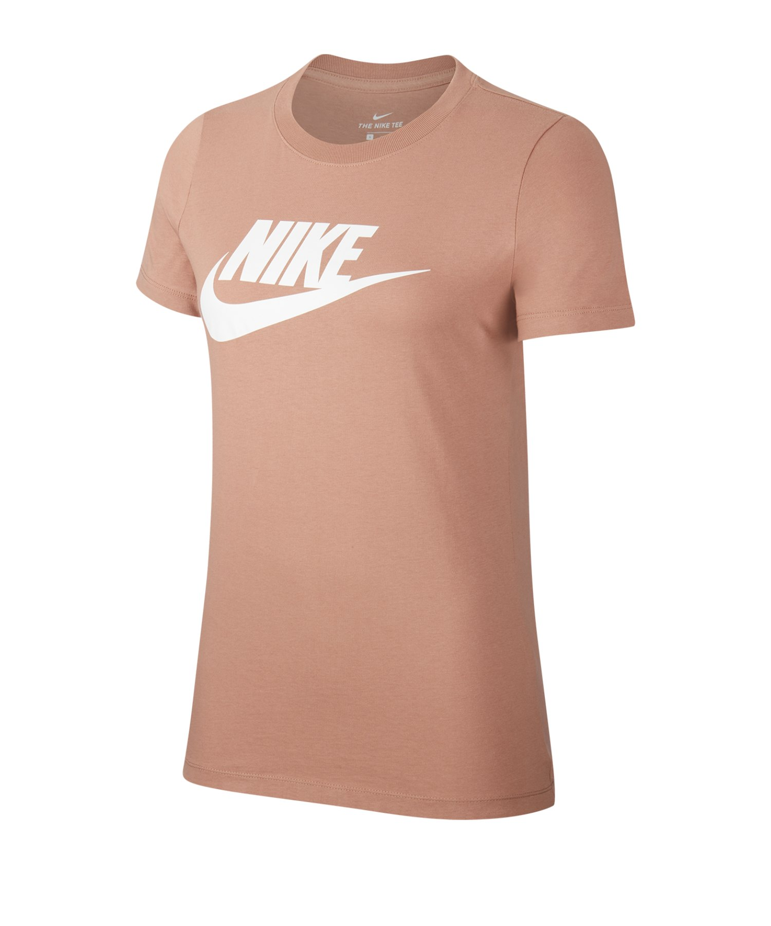 Nike Essential Tee T-Shirt Damen Braun F283 - braun