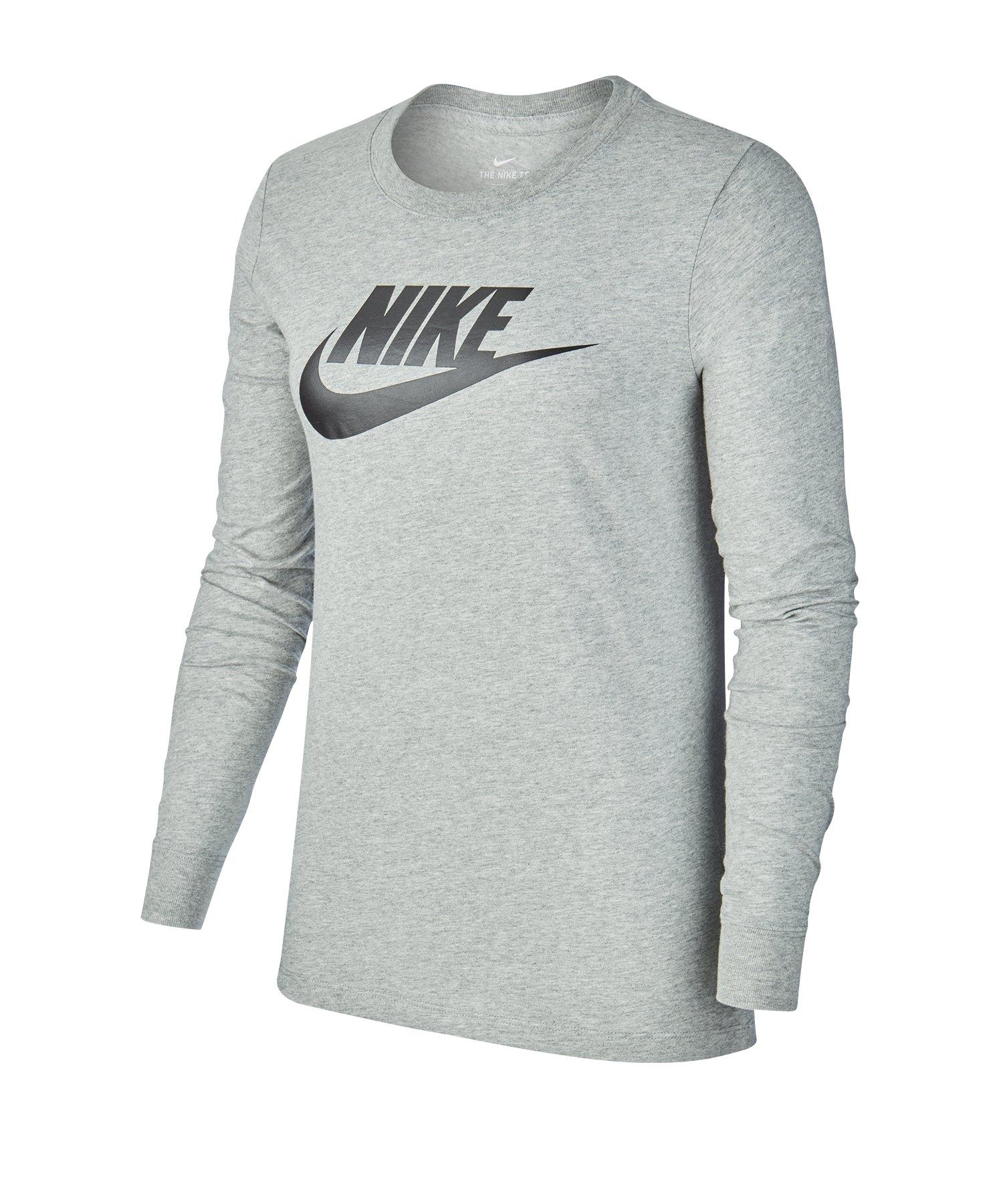 Nike Essential Shirt langarm Damen Grau F063 - grau