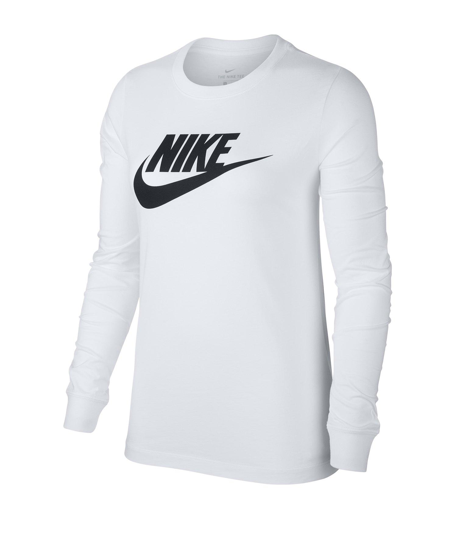 Nike Essential Shirt langarm Damen Weiss F100 - weiss