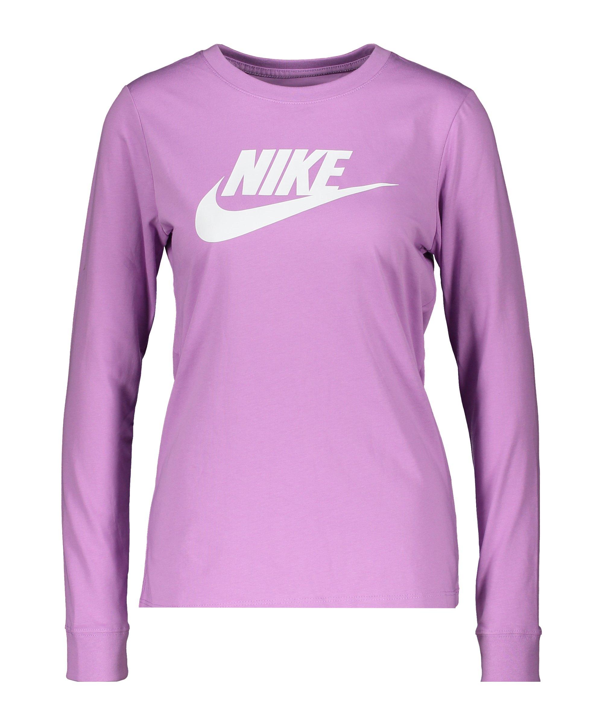 Nike Essential Sweatshirt Damen Lila Weiss F591 - lila