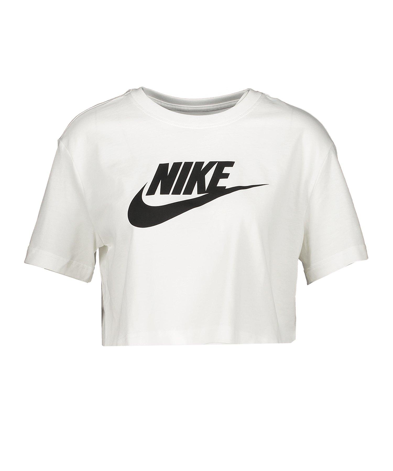 Nike Essential Croped T-Shirt Damen Weiss F100 - weiss