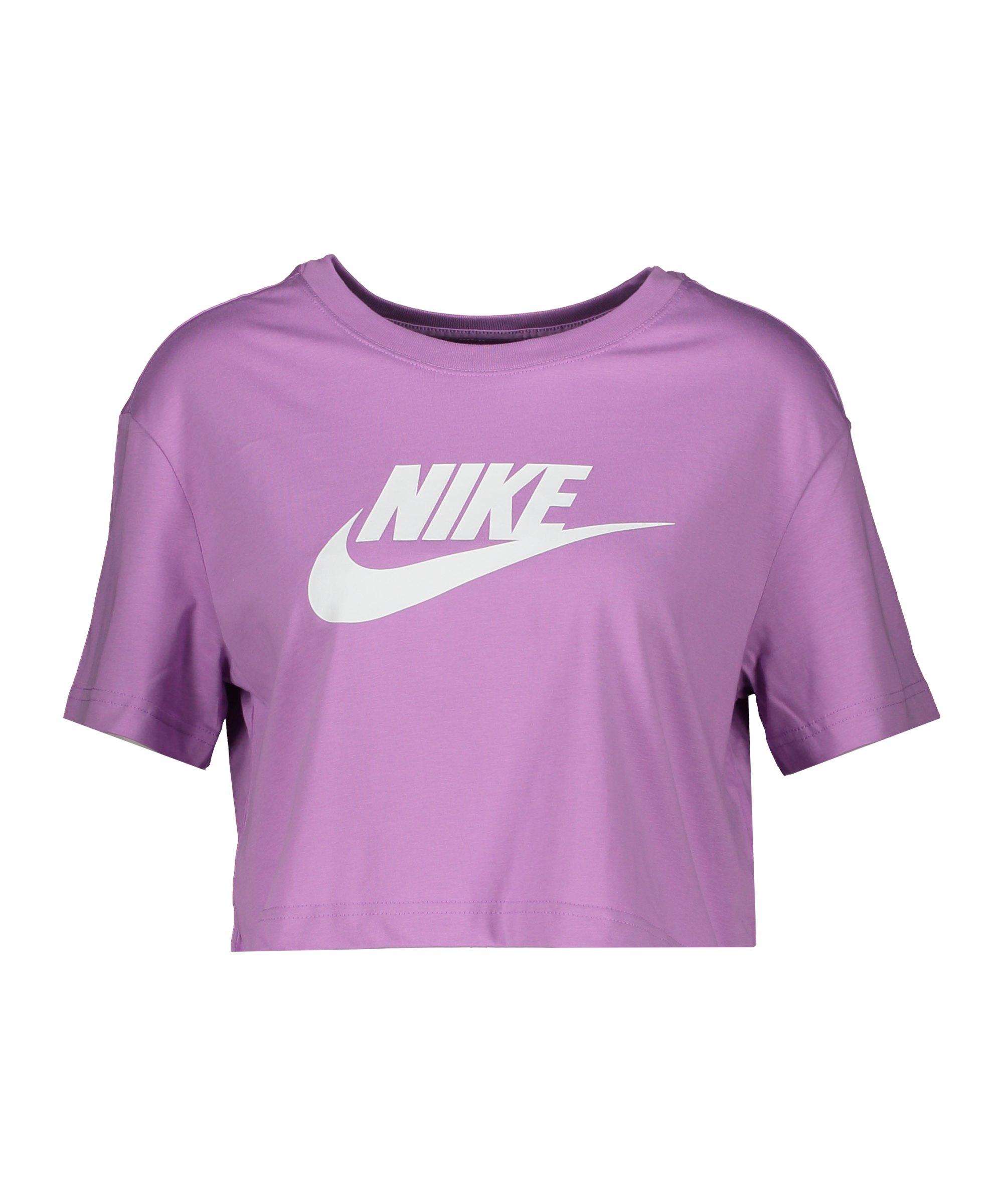 Nike Essentials Cropped T-Shirt Damen Lila F591 - lila