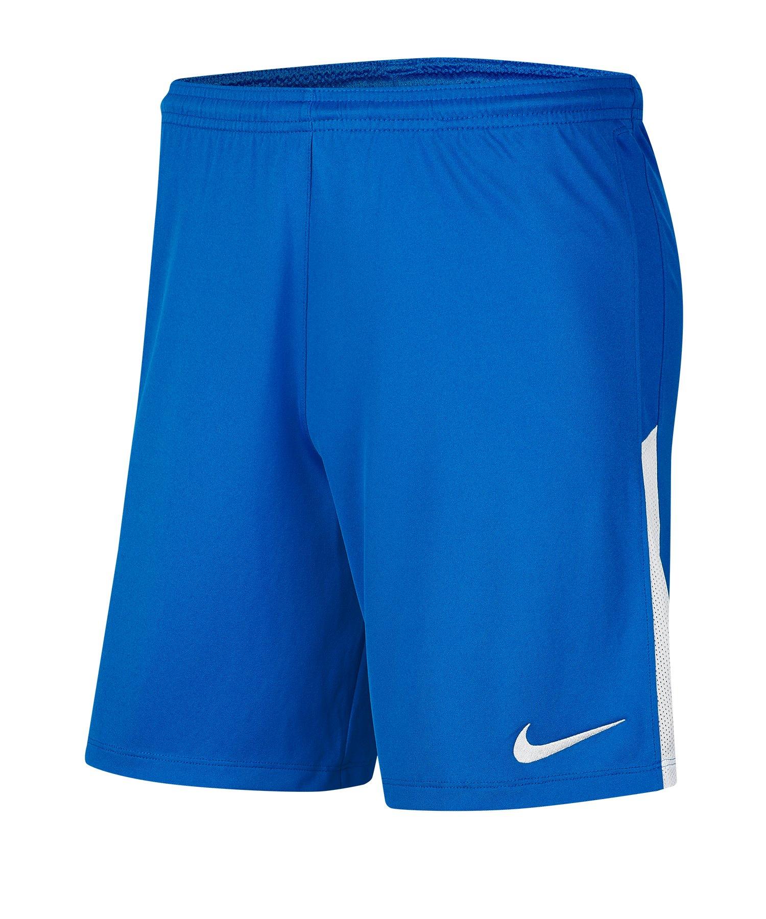 Nike League Knit II Short Blau Weiss F463 - blau