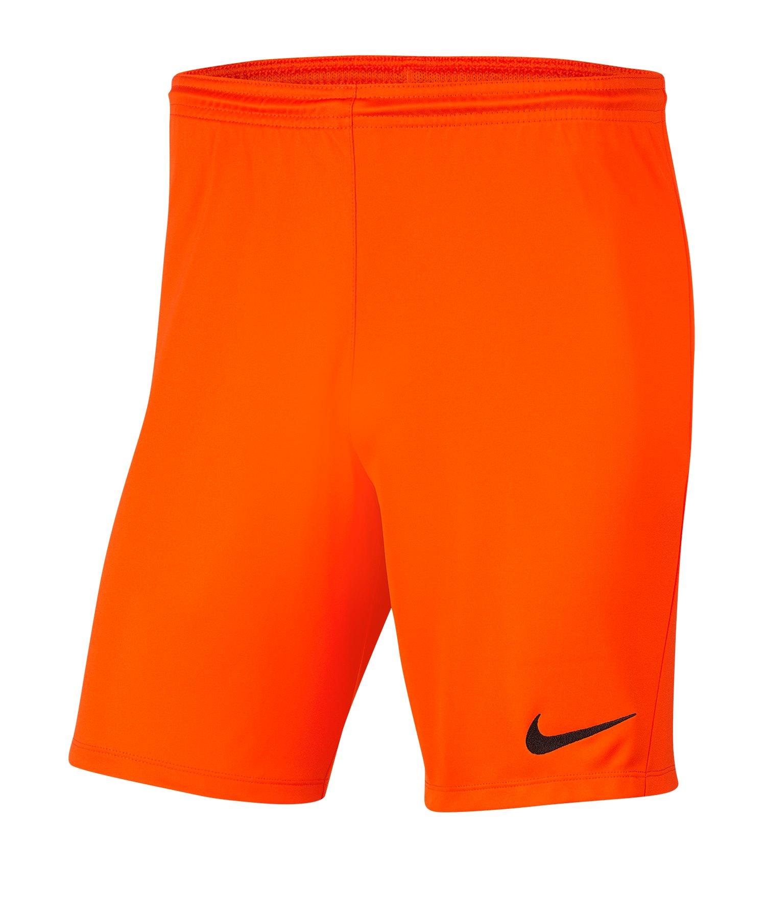 Nike Park III Short Orange F819 - orange