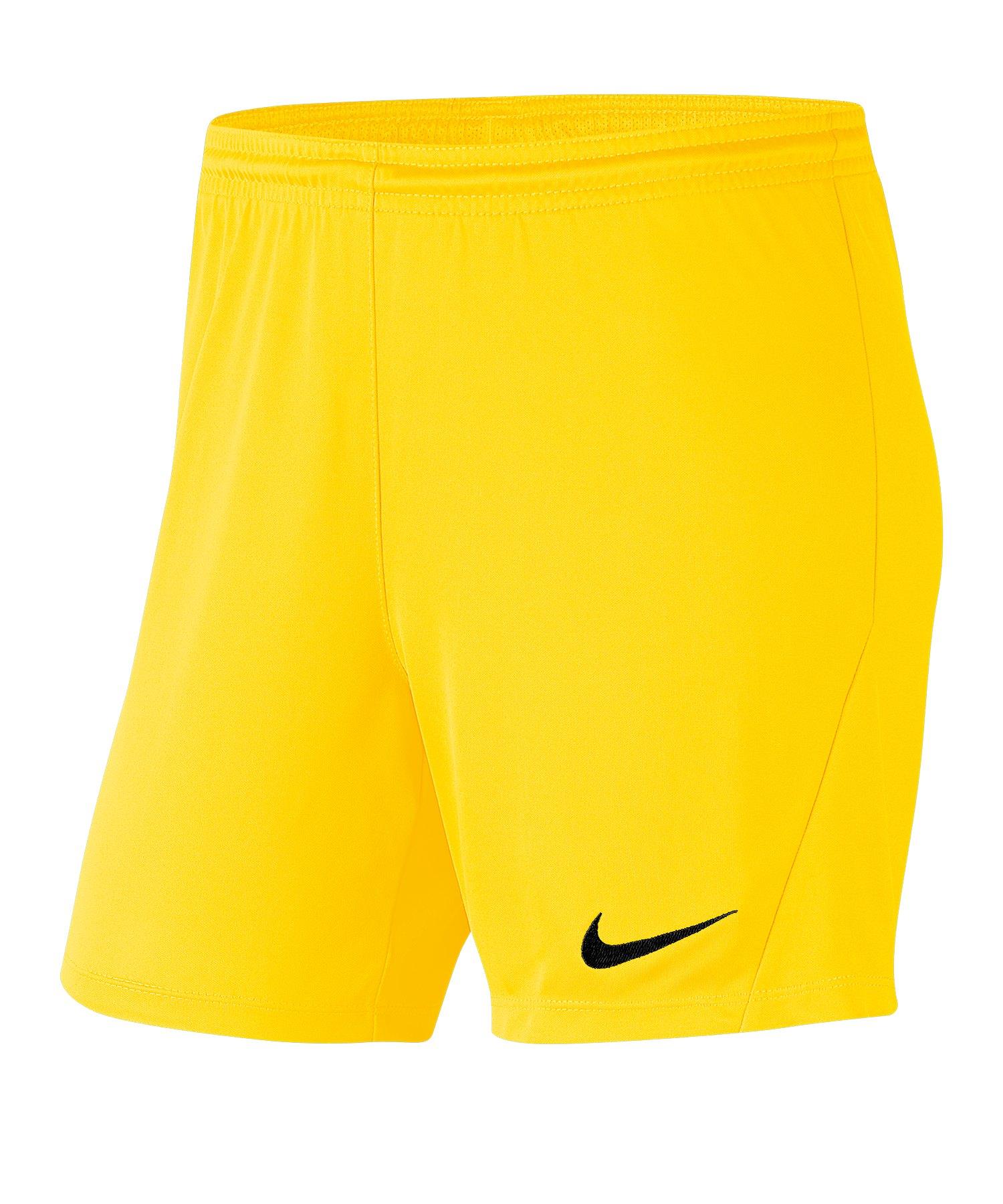 Nike Park III Short Damen Gelb F719 - gelb