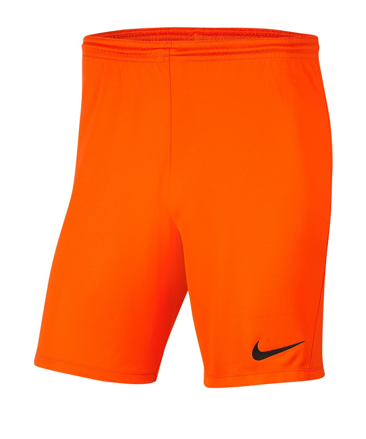 Nike Park III Short Kids Orange F819 - orange