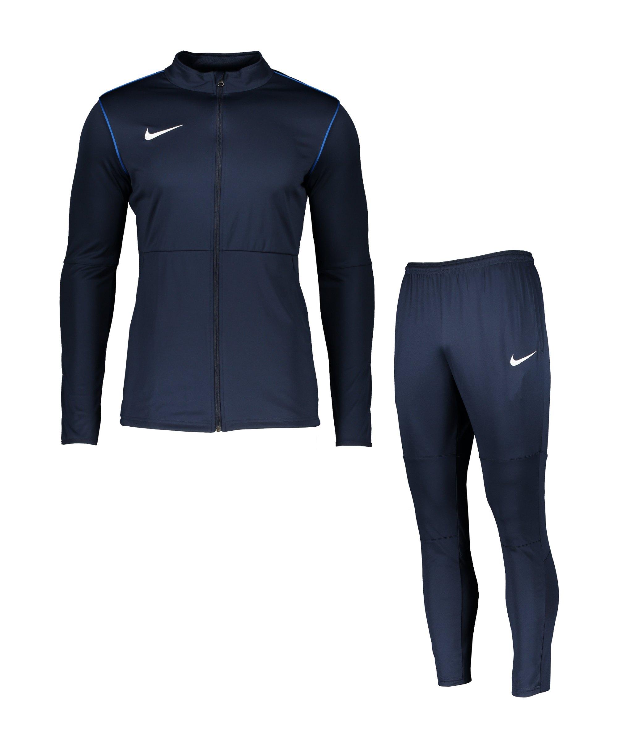 Nike Park 20 Trainingsanzug Blau Weiss F410 - blau