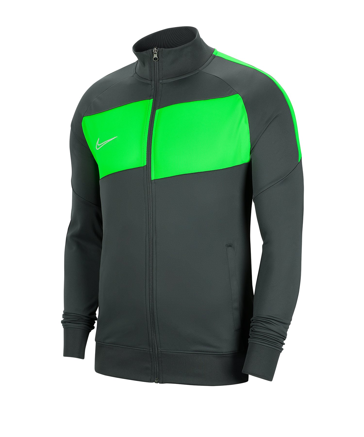 Nike Academy Pro Trainingsjacke Grau Grün F060 - grau