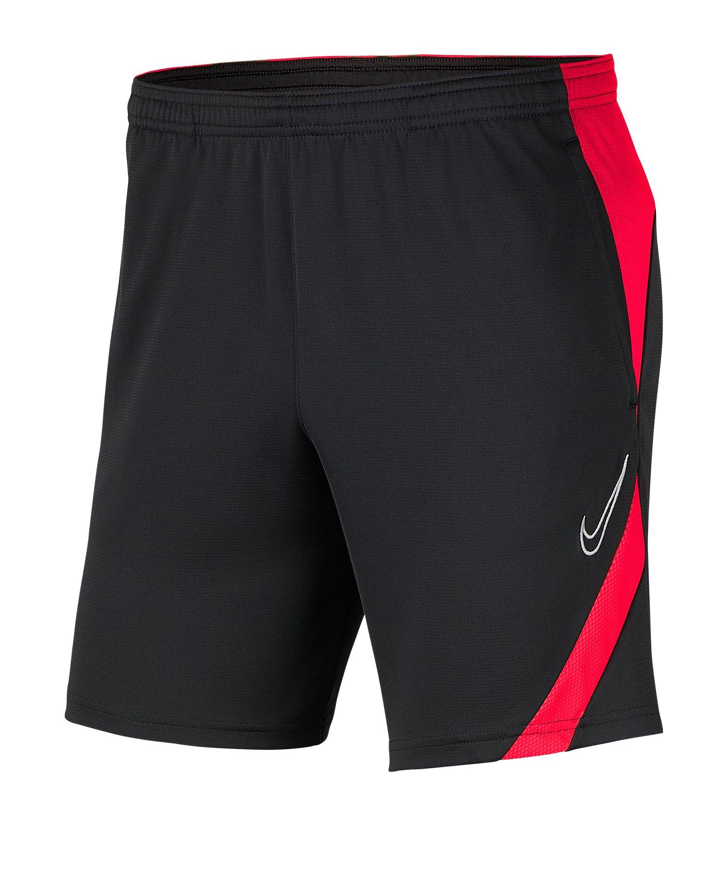 Nike Academy Pro Short Grau Rot F067 - grau